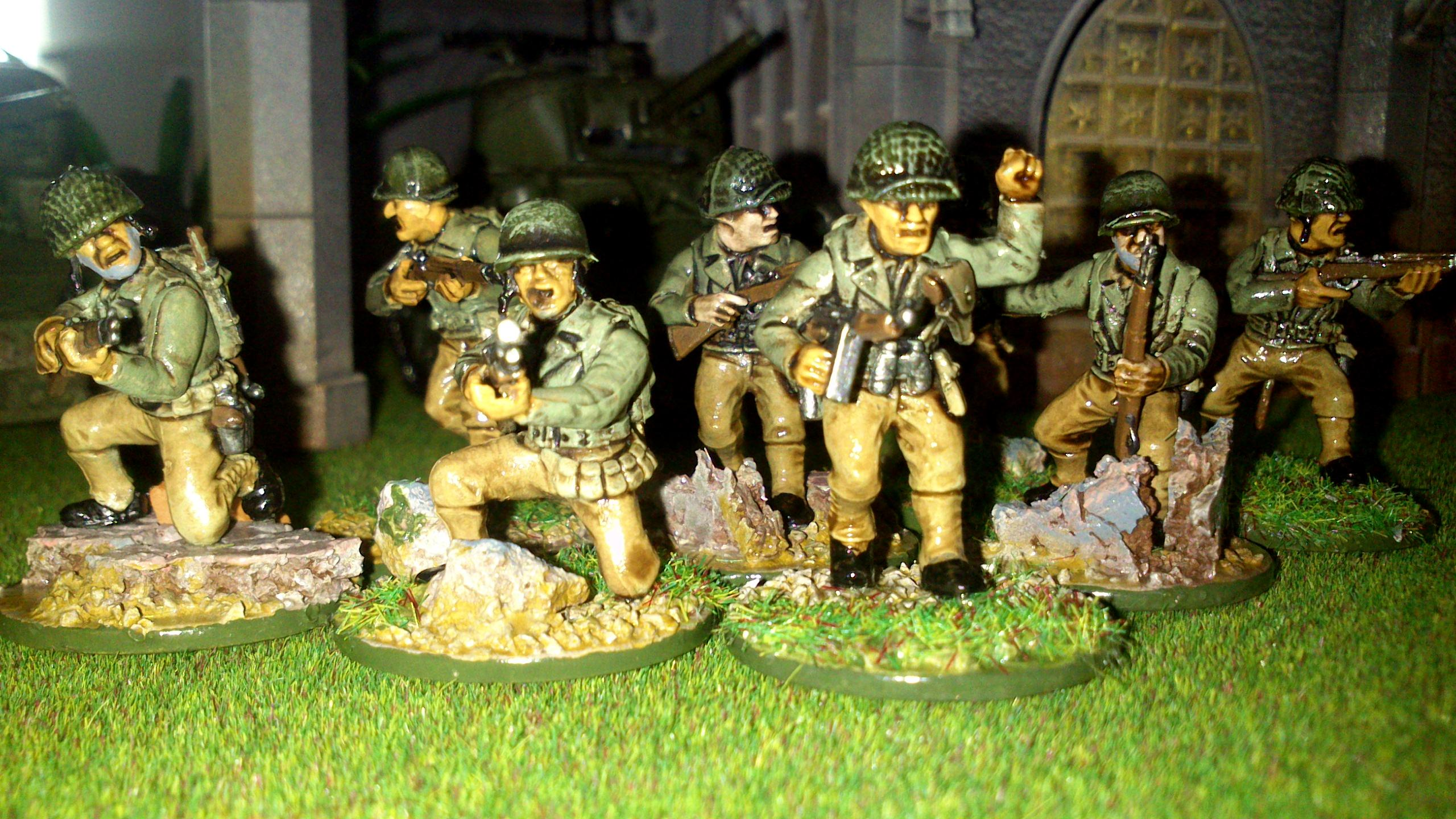 America, Bolt Action, Germans, Heer, Infantry, Painted, Panthers, Sherman, Tank, Waffen, Warlord