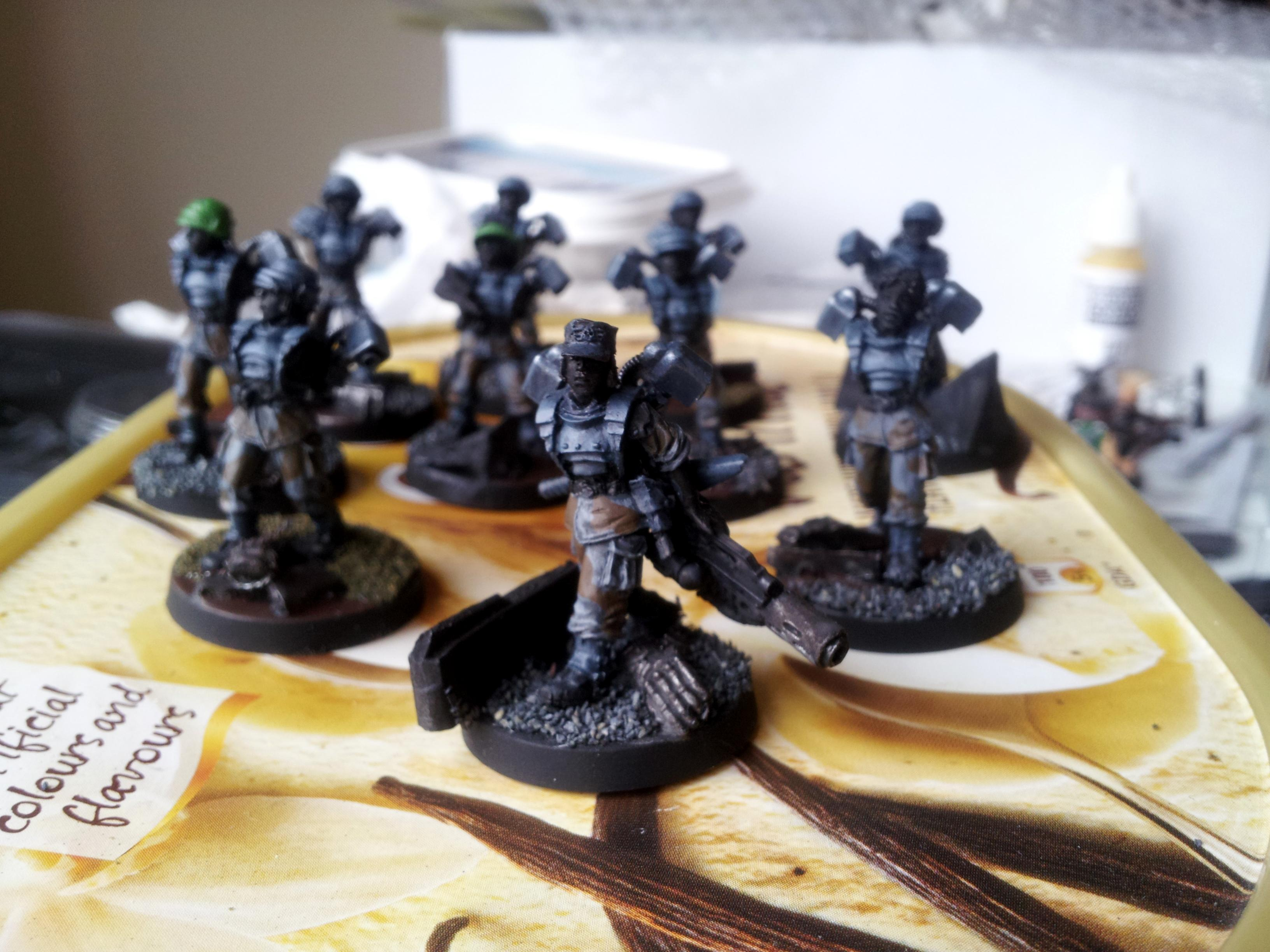 Drop Troops, Female, Gang, Gangers, Inquisimunda, Kill Team, Necromunda, Vic, Victoria Miniatures