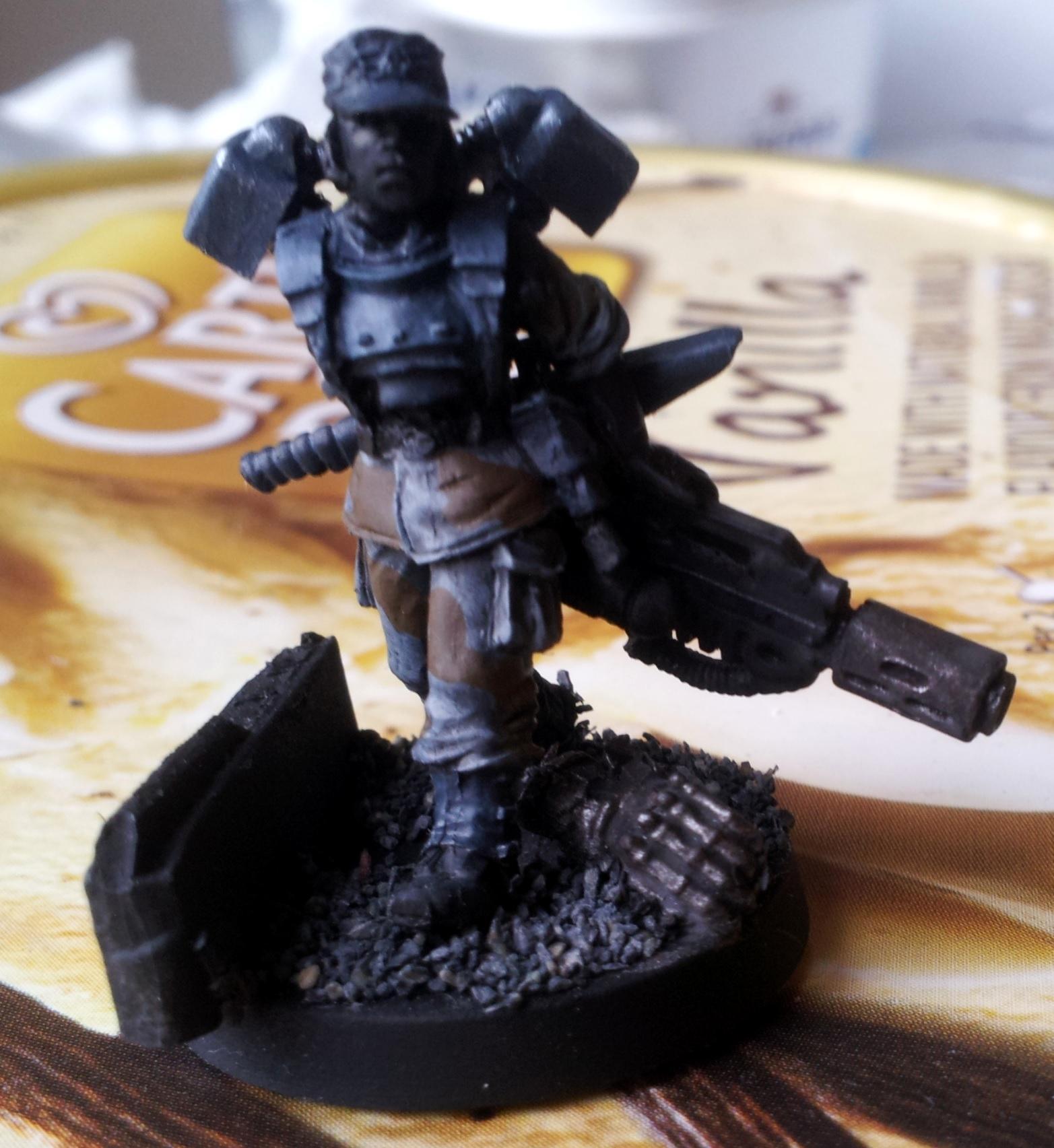 Drop Troops, Female, Gang, Imperial Guard, Inquisimunda, Kill Team, Necromunda, Vic, Victoria Miniatures, Warband, Work In Progress