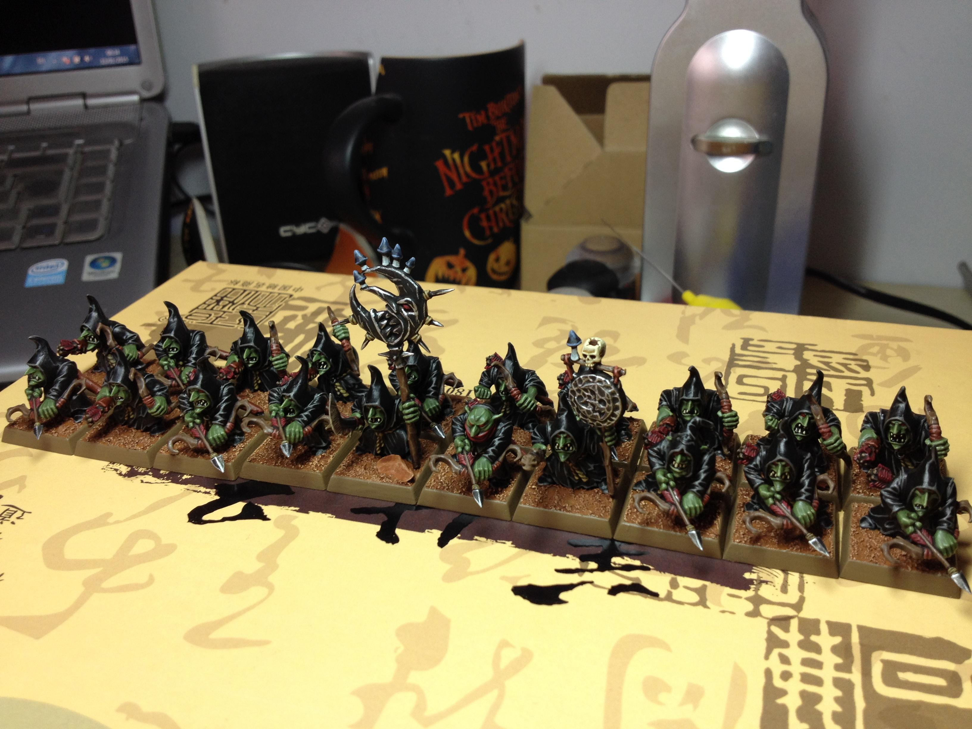 Bow, Bows, 20 Night Goblins w/bows