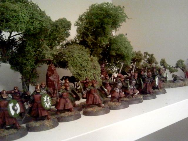 Forest, Infantry, Lord Of The Rings, Red