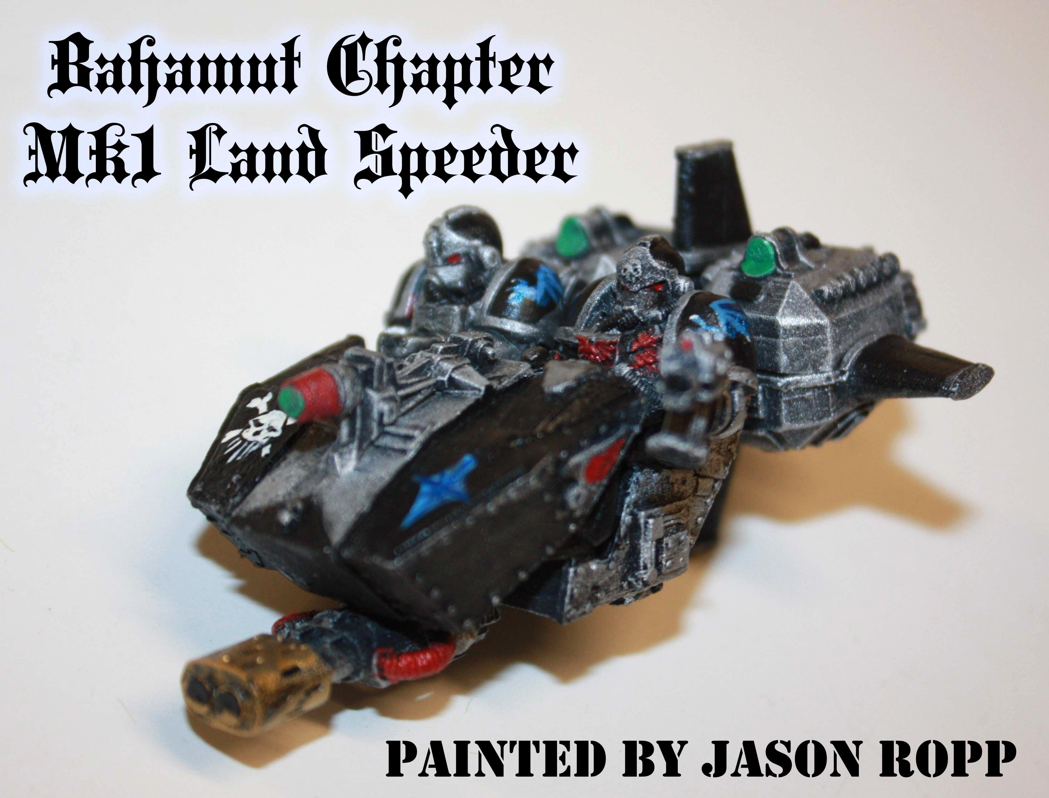 1st Edition, 30k, Assasins, Bahamut Chapter, Black, Dreadnought, Imperial, Land Speeder, Miniatures, Mk1, Painted, Silver, Space Marines, Warhammer 40,000