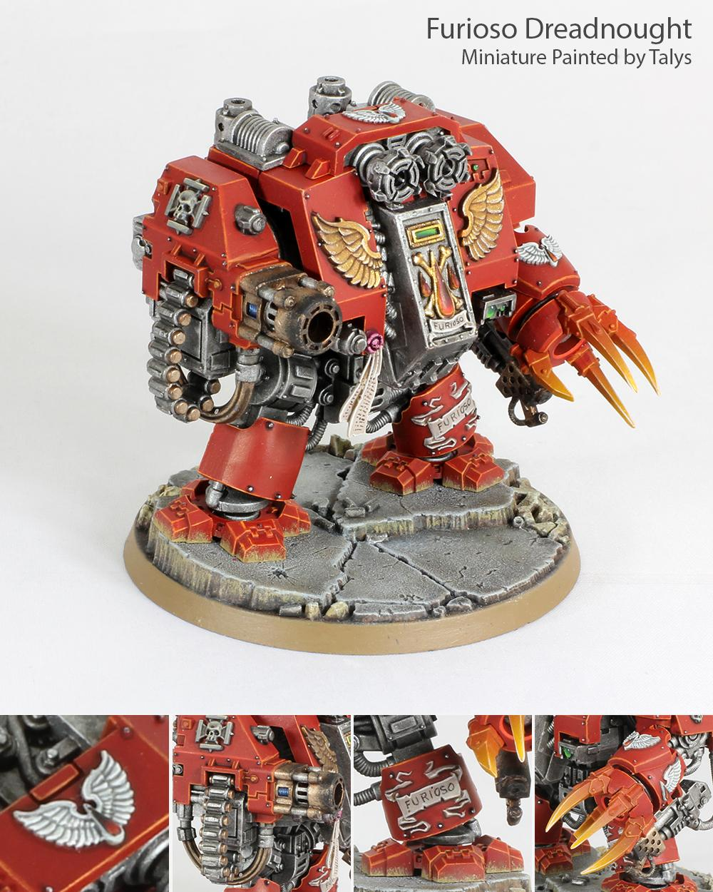 Blood Angels, Dreadnought, Furioso, Space Marines, Warhammer 40,000