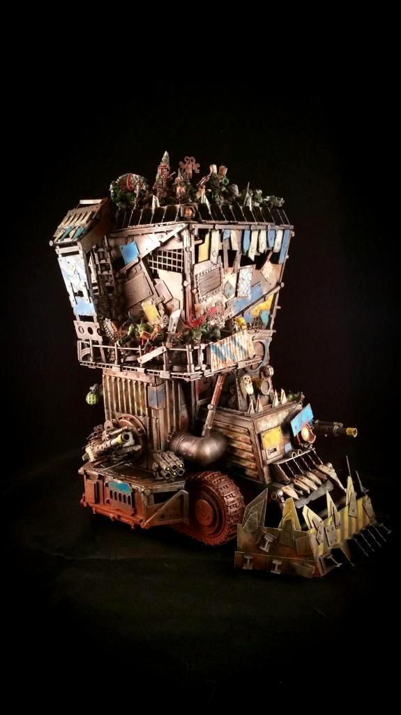 Battlewagon, Custom, Orks, Scratch Build, Super-heavy, Terrain