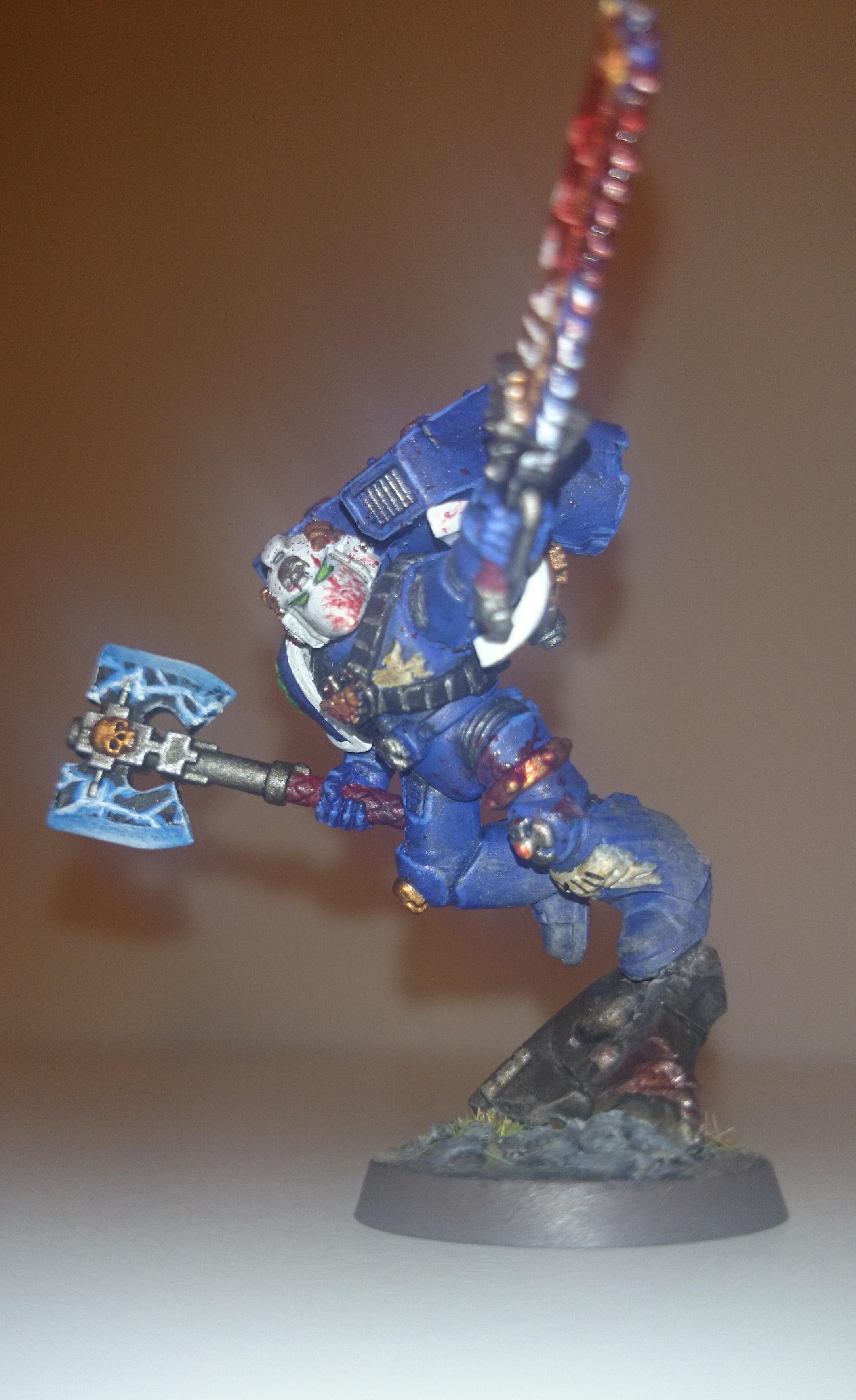 Jump Infantry, Power Axe, Space Marines, Ultramarines, Vanguard Veterans, Warhammer 40,000