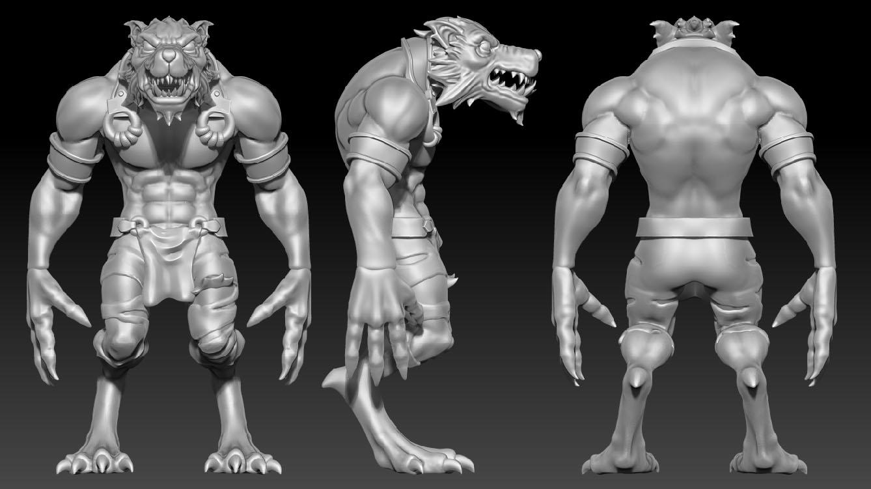 Alpha Werewolf Render 1