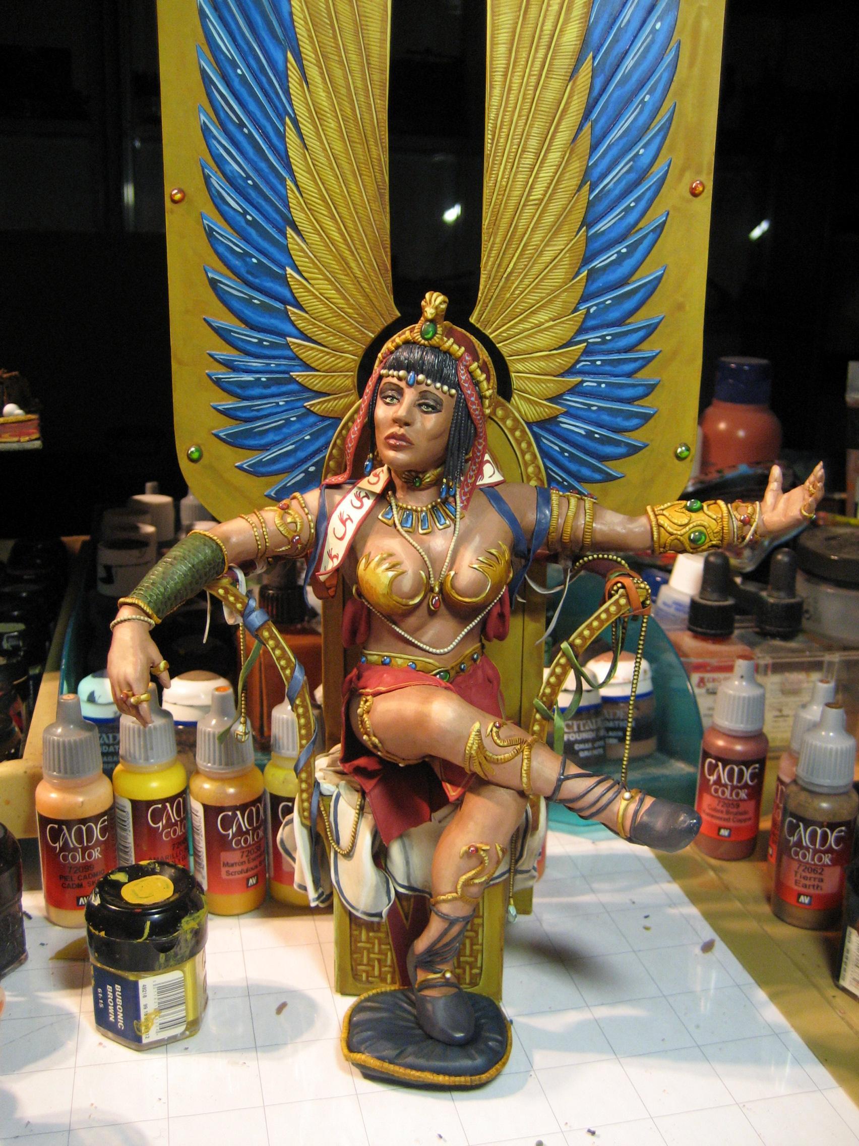 Egypt, Goddess, paint complete
