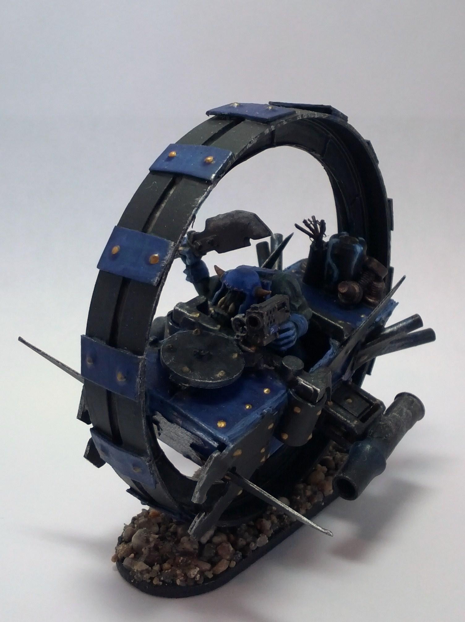 Bike, Monowheel, Orks, Scratch Build, Warbike