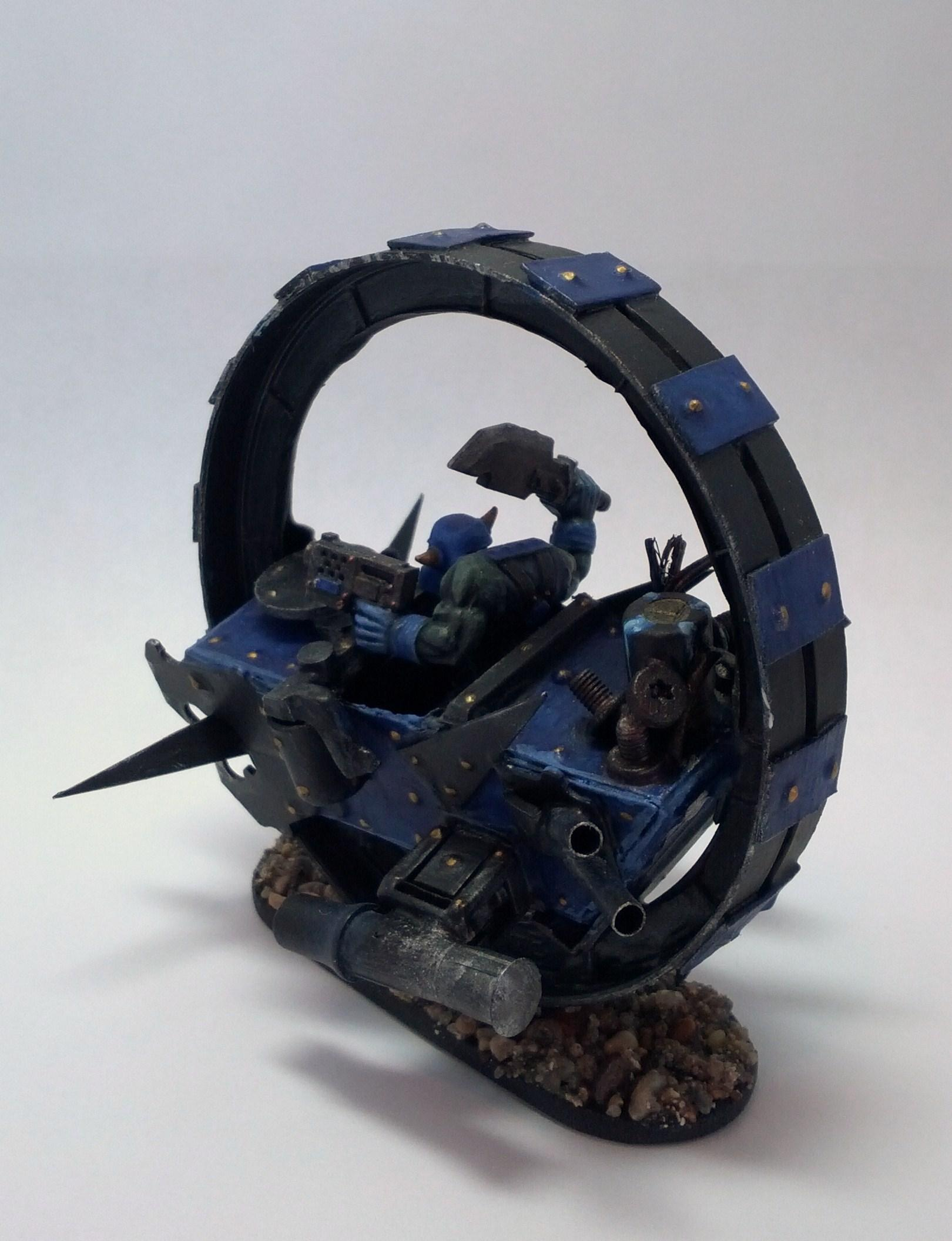 Bike, Monowheel, Orks, Scratch Build, Warbike