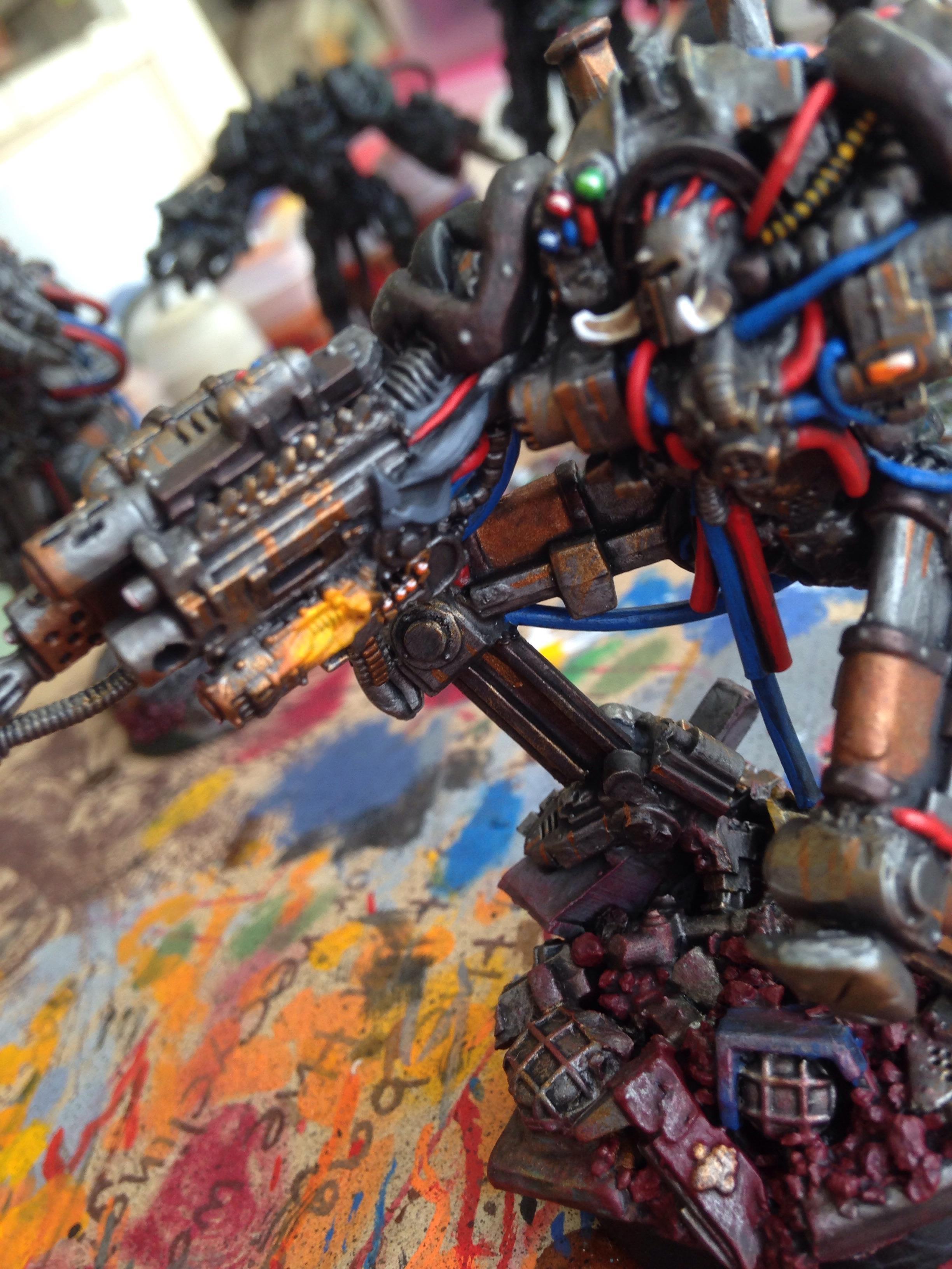 Chaos Space Marines, Convertion, Obliterators, Scratch Build, Terminator Armor
