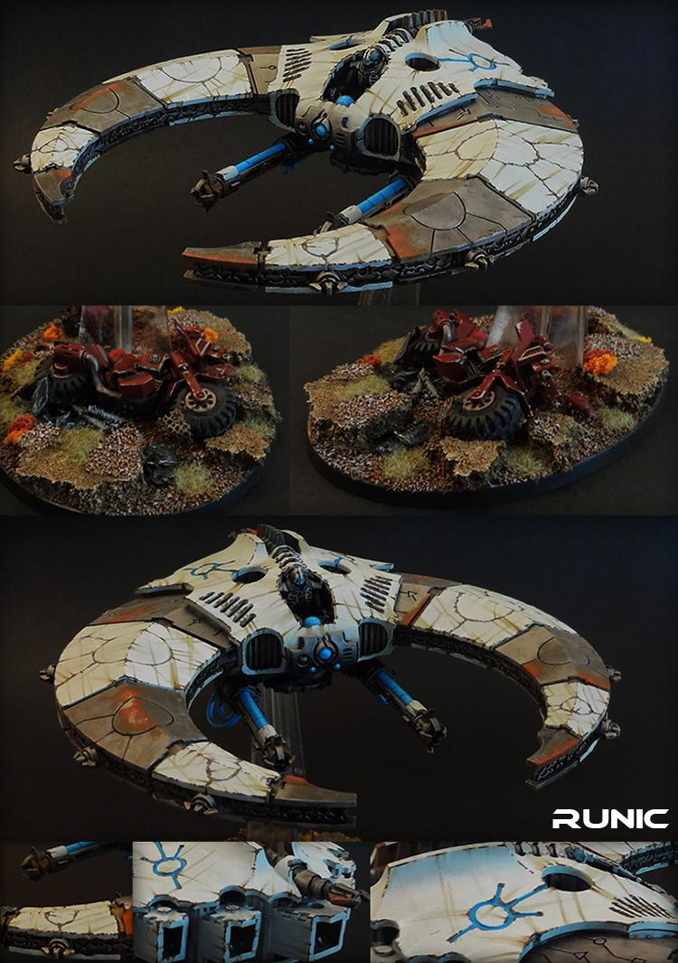 Air, Base, Bike, Damage, Fighter, Flyer, Jet, Necrons, Night, Rainlines, Scythe, Wear, Weathered
