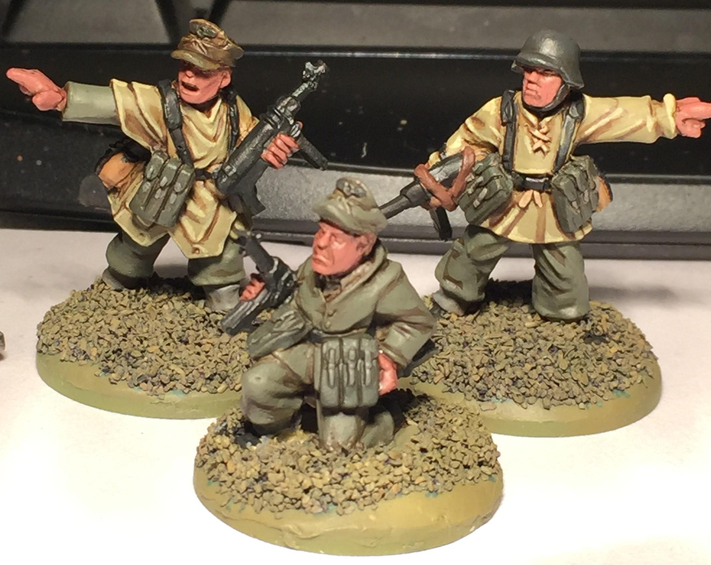 Bolt Action, German Command, German Infantry, Work In Progress