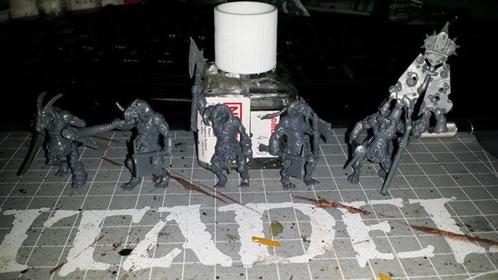 Beastmen, Chaos, Nurgle, Pestigors, Work In Progress