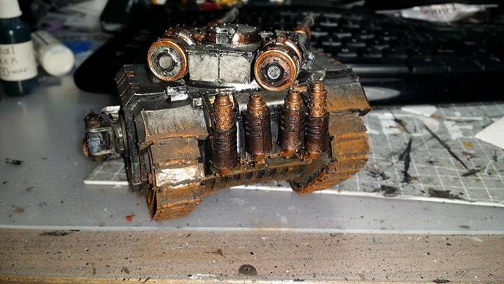30k, Iron, Iron Warriors, Legion, Rust, Sicaran, Sicaran Tank, Tank, Warriors, Weathered