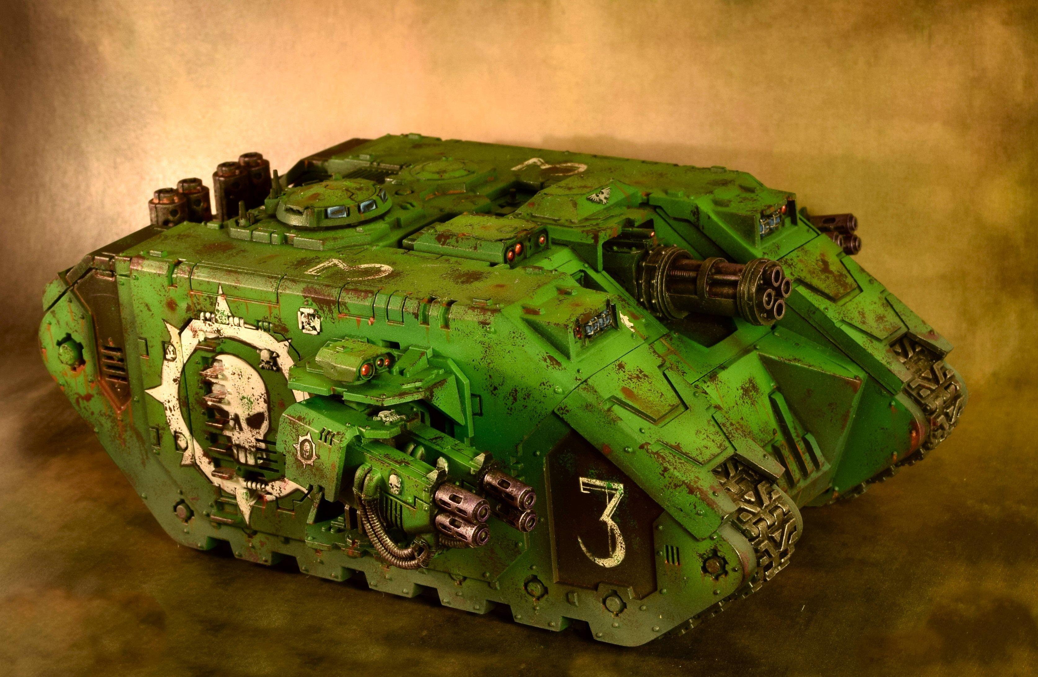 Land Raider, Sons Of Medusa, Space Marines, Tank, Weathered