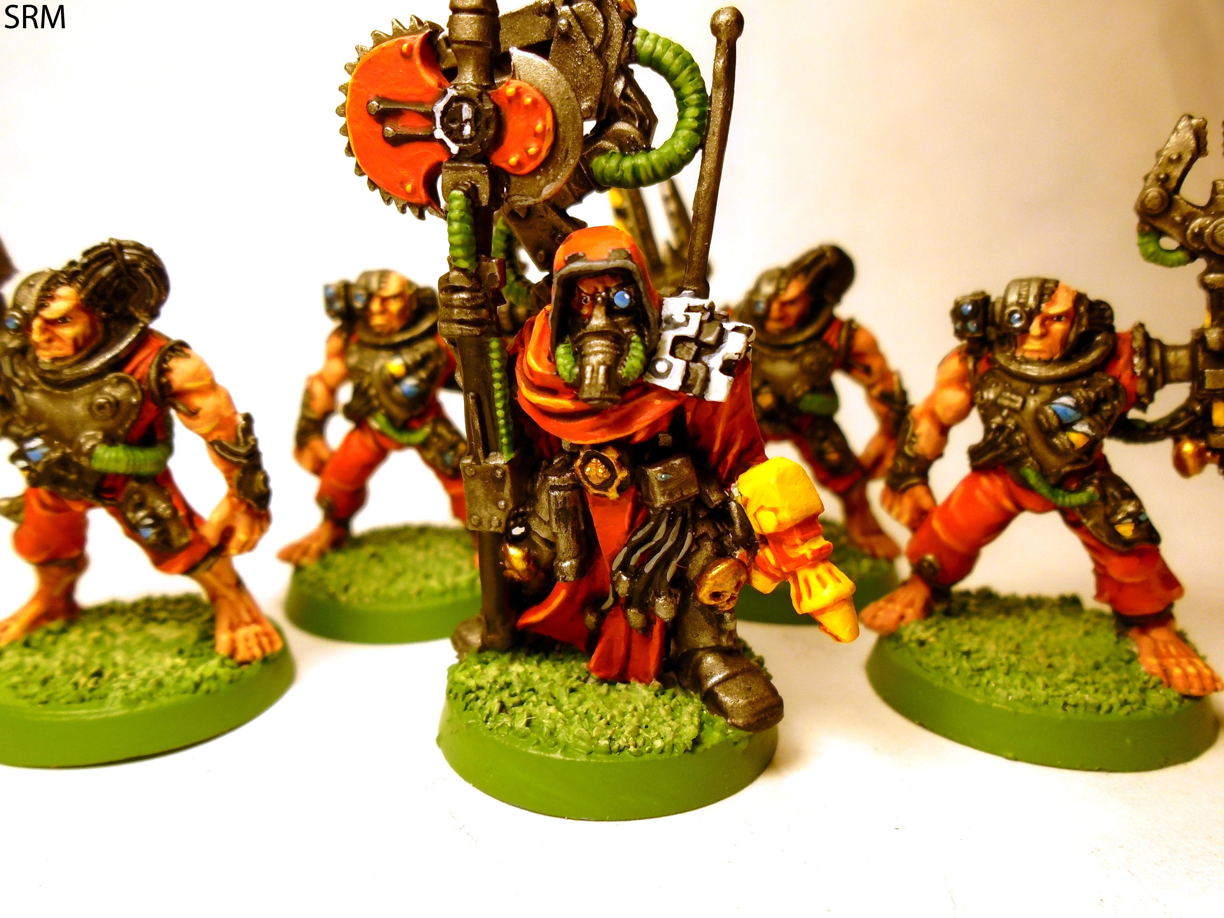 Adeptus Mechanicus, Mechanicus, Retro, Servitors, Skullz, Tech Priest