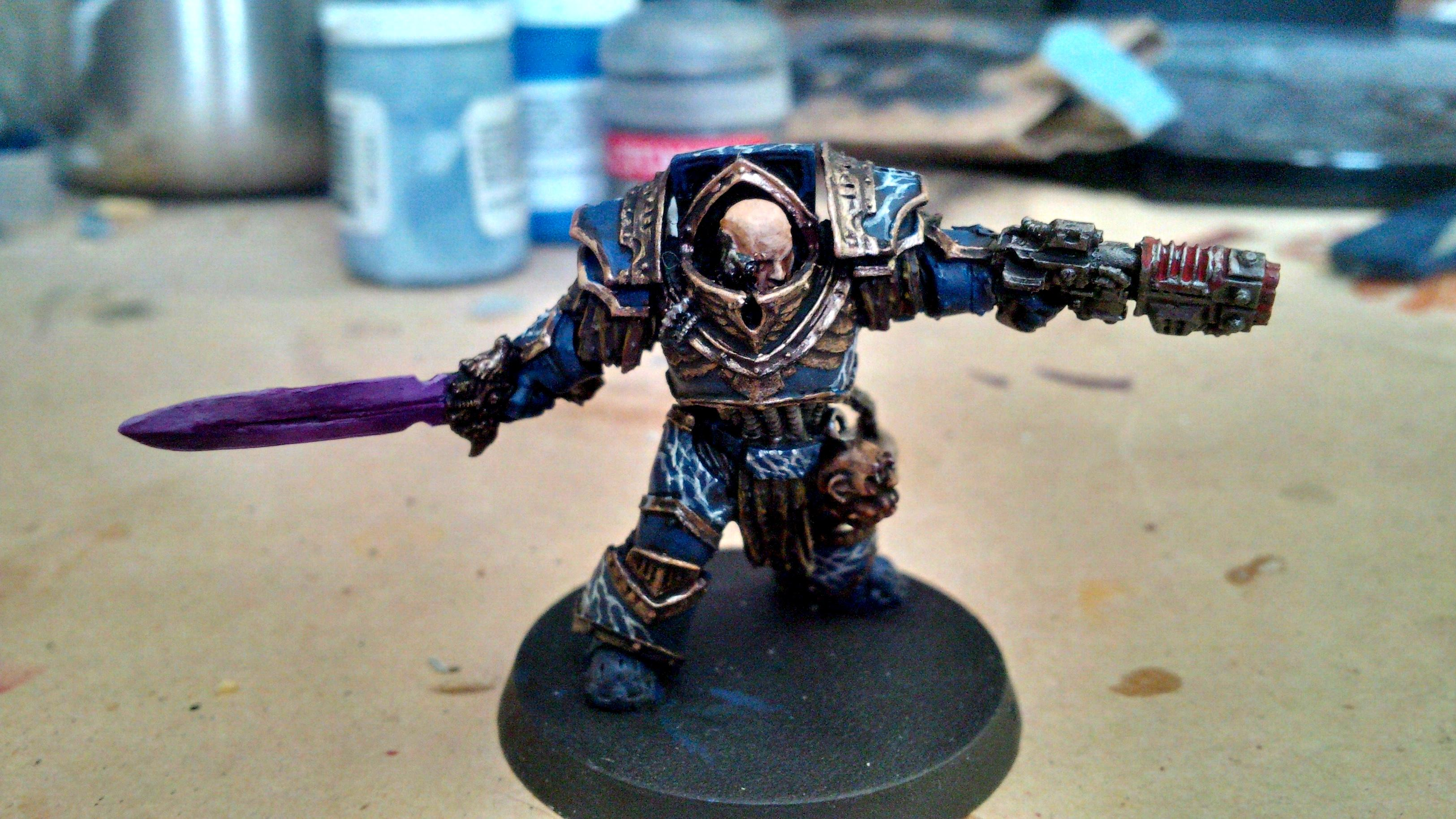 Blending, Blue, Gold, Horus Heresy, Lightning, Night Lord, Praetor, Purple