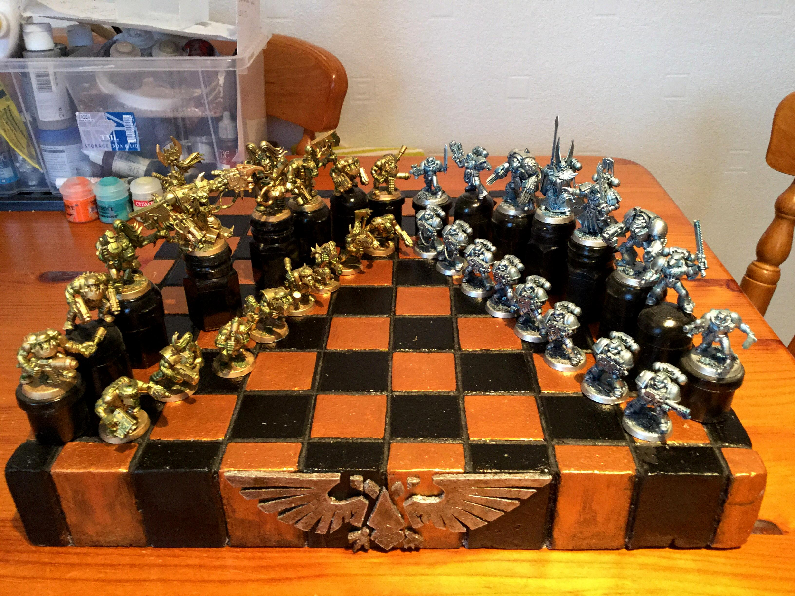 Chess, Orks, Space Marines