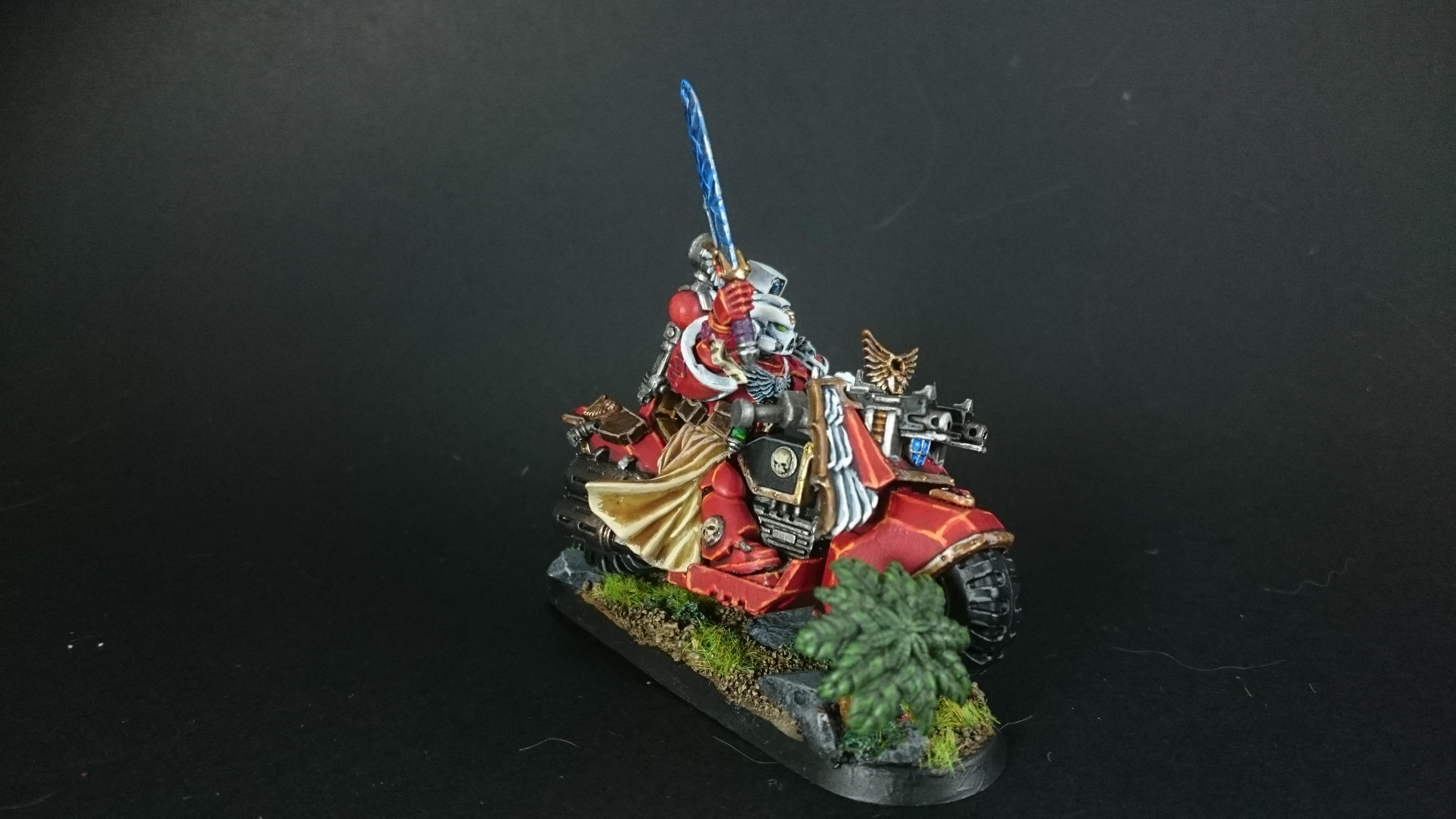 Bike, Blood Angels, Sanguinary Priest, Space Marine Bike, Space Marines