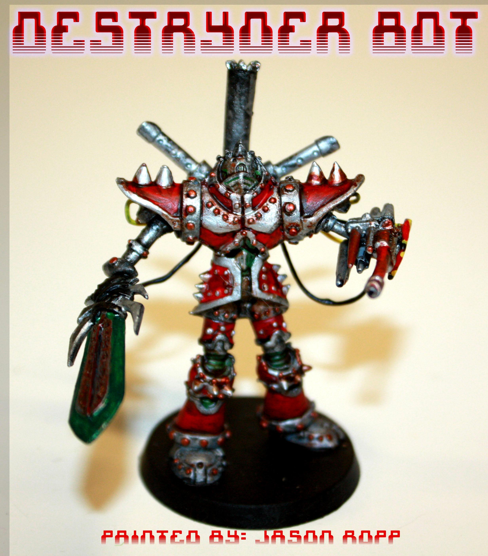 Destroyer Bot, Mage Knight, Mech, Miniature, Necromunda, Robot, Robots, Wargame, Warhammer 40,000, Warhammer Fantasy