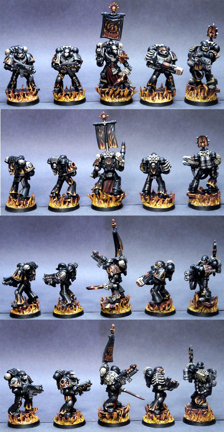 Banner, Flame Effect, Flames, Legion Of The Damned, Lotd, Space Marines