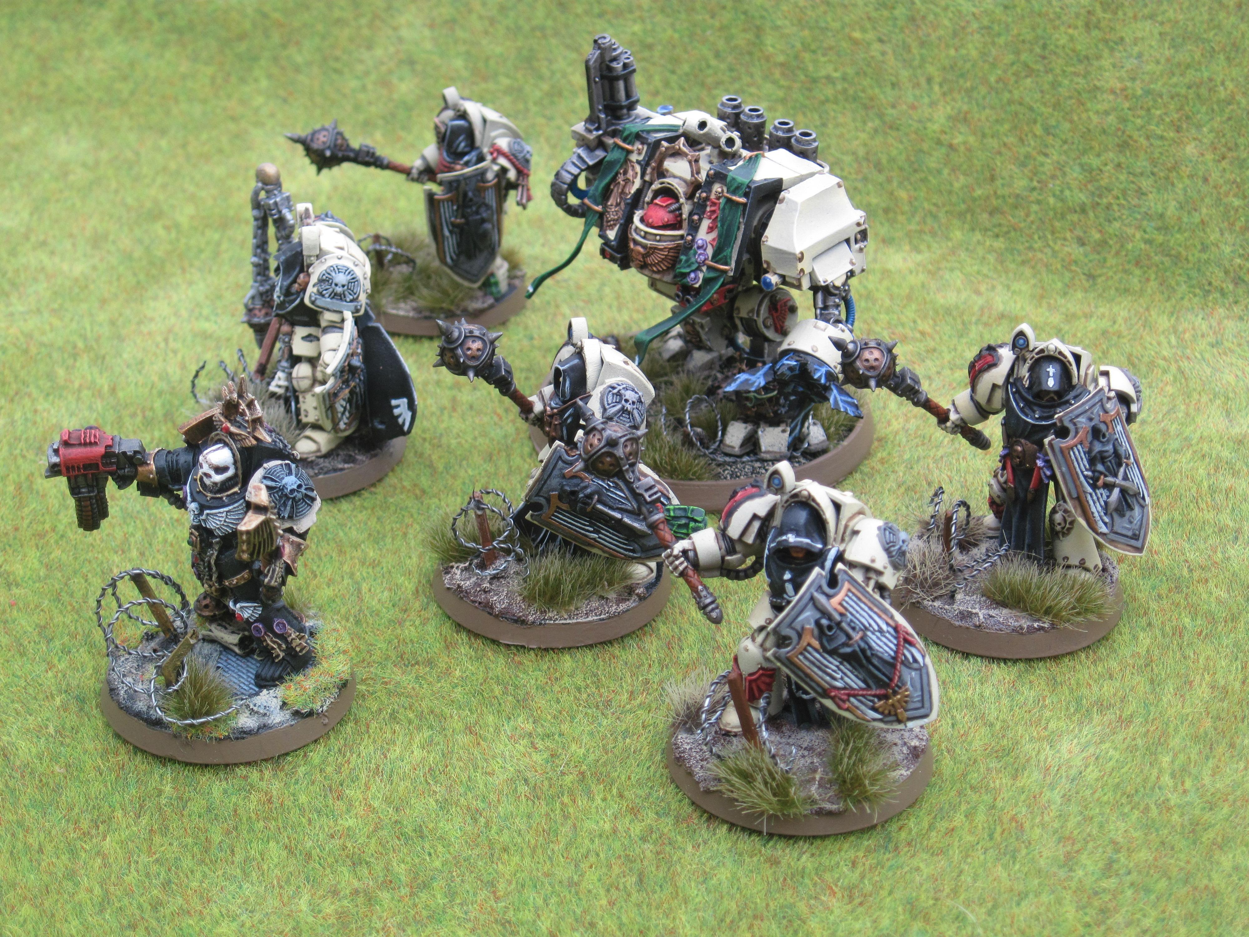 Airbrush, Barbed Wire Base, Chaplain, Dark Angels, Deathwing, Dreadnought, Forge World, Terminator Armor