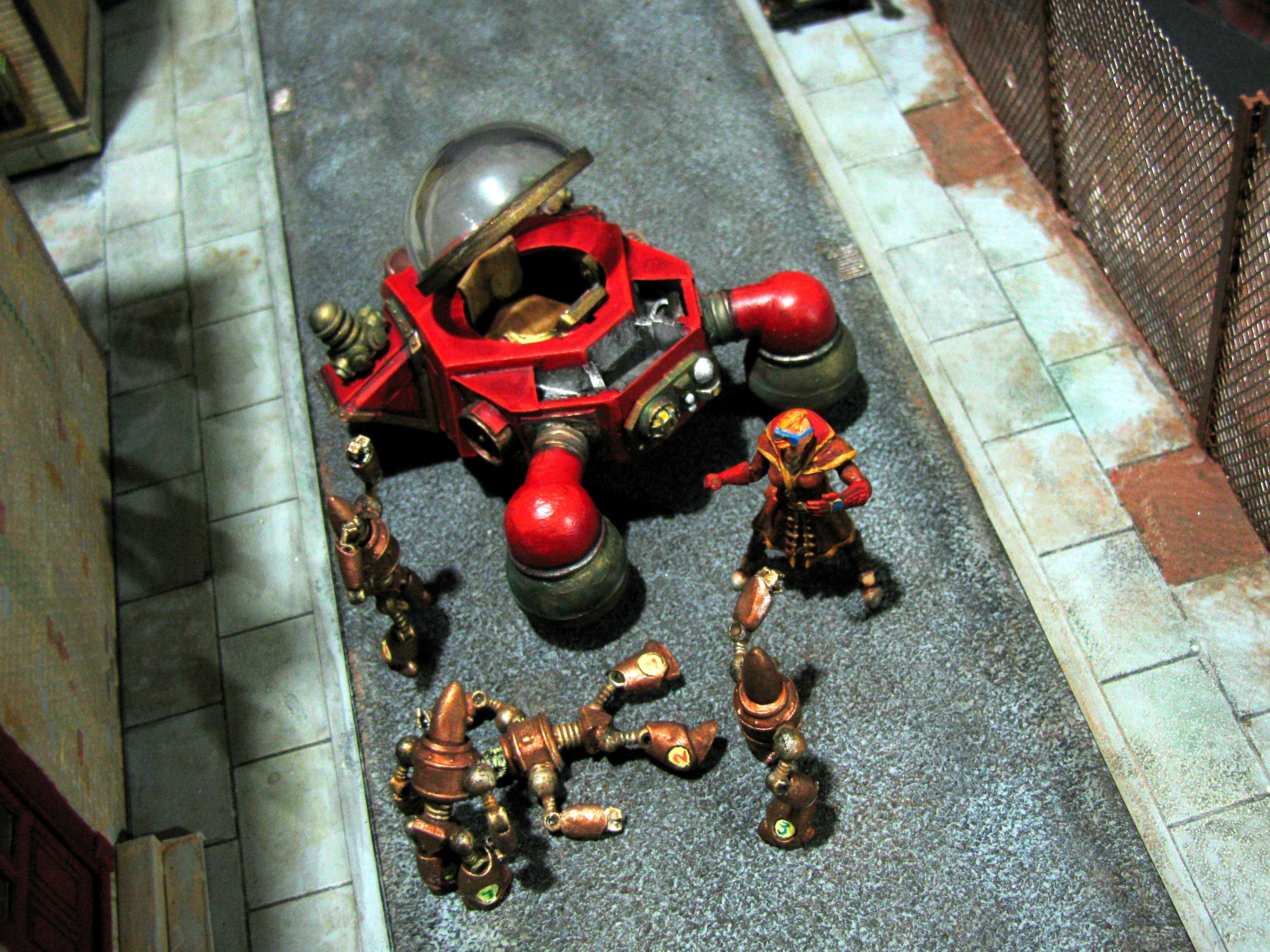 Accident, Automata, Competition, Diorama, League, Rivets, Robots, Steampunk