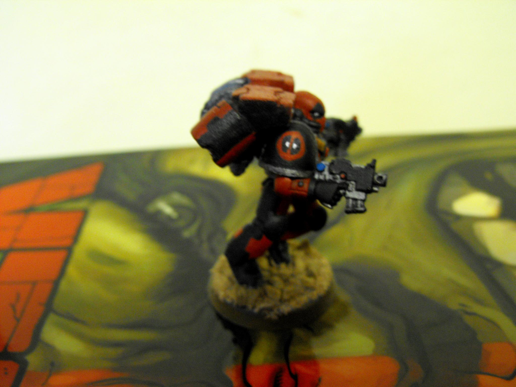Deadpool Marvel, deadpool marind shoulder