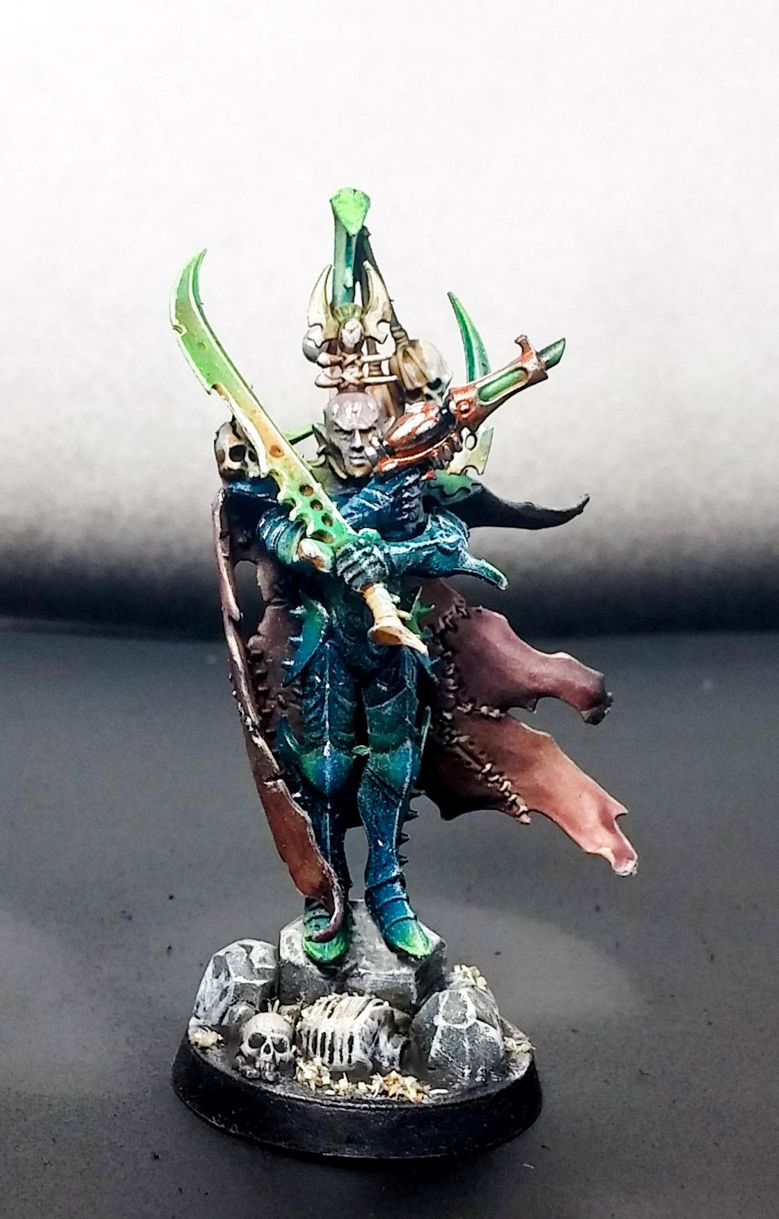 Archon, Bone, Character, Commission, Dark, Dark Eldar, Eldar, Green, Headquarters, Skin