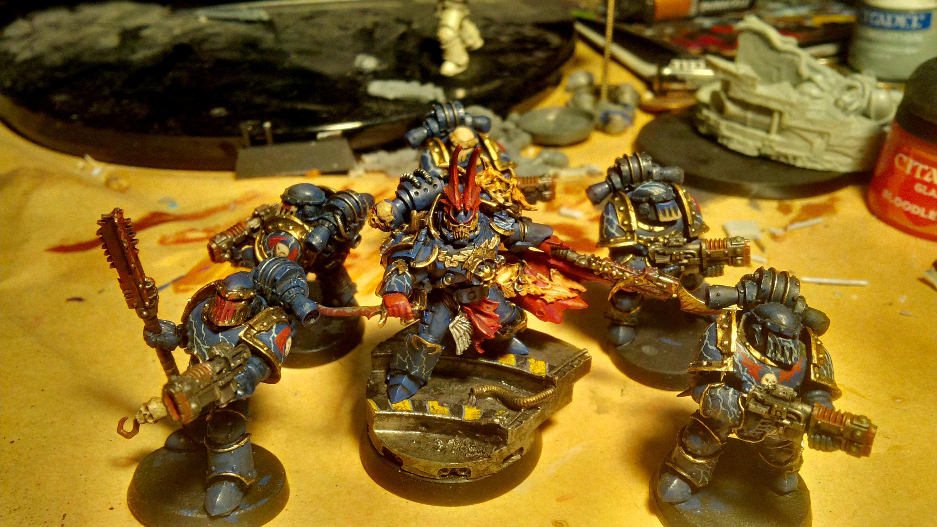 30k, Blue, Gold, Horus Heresy, Lightning, Night Lord, Sevetar, Skull