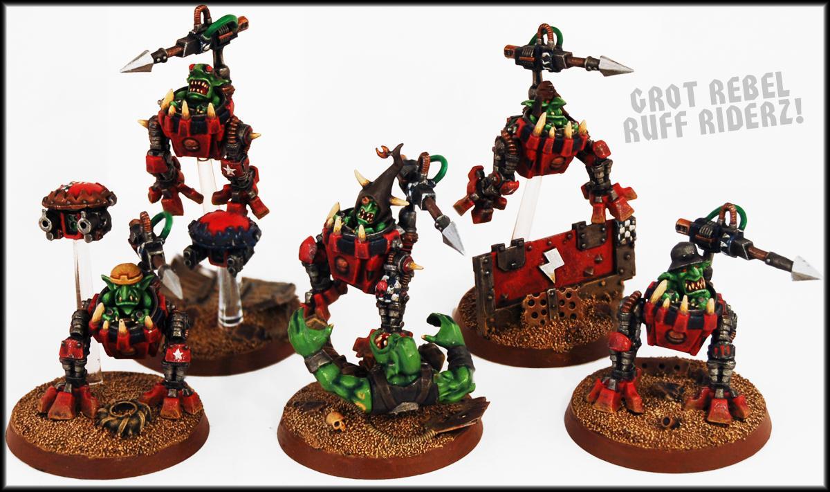 Goblins, Greenskin, Gretchin, Grots, Gun Drone, Looted, Orks, Rough Riders, Squigs, Squigsuit, Warhammer 40,000