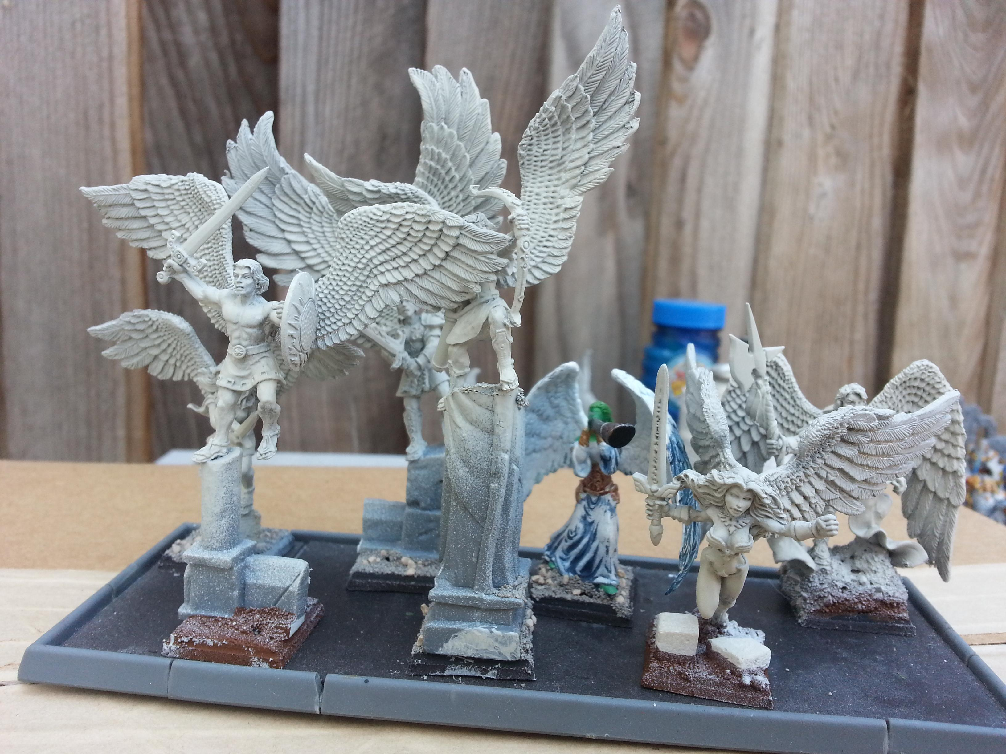 Angel, Chaos Warrior, Reaper, Warhammer Fantasy, Warriors Of Light