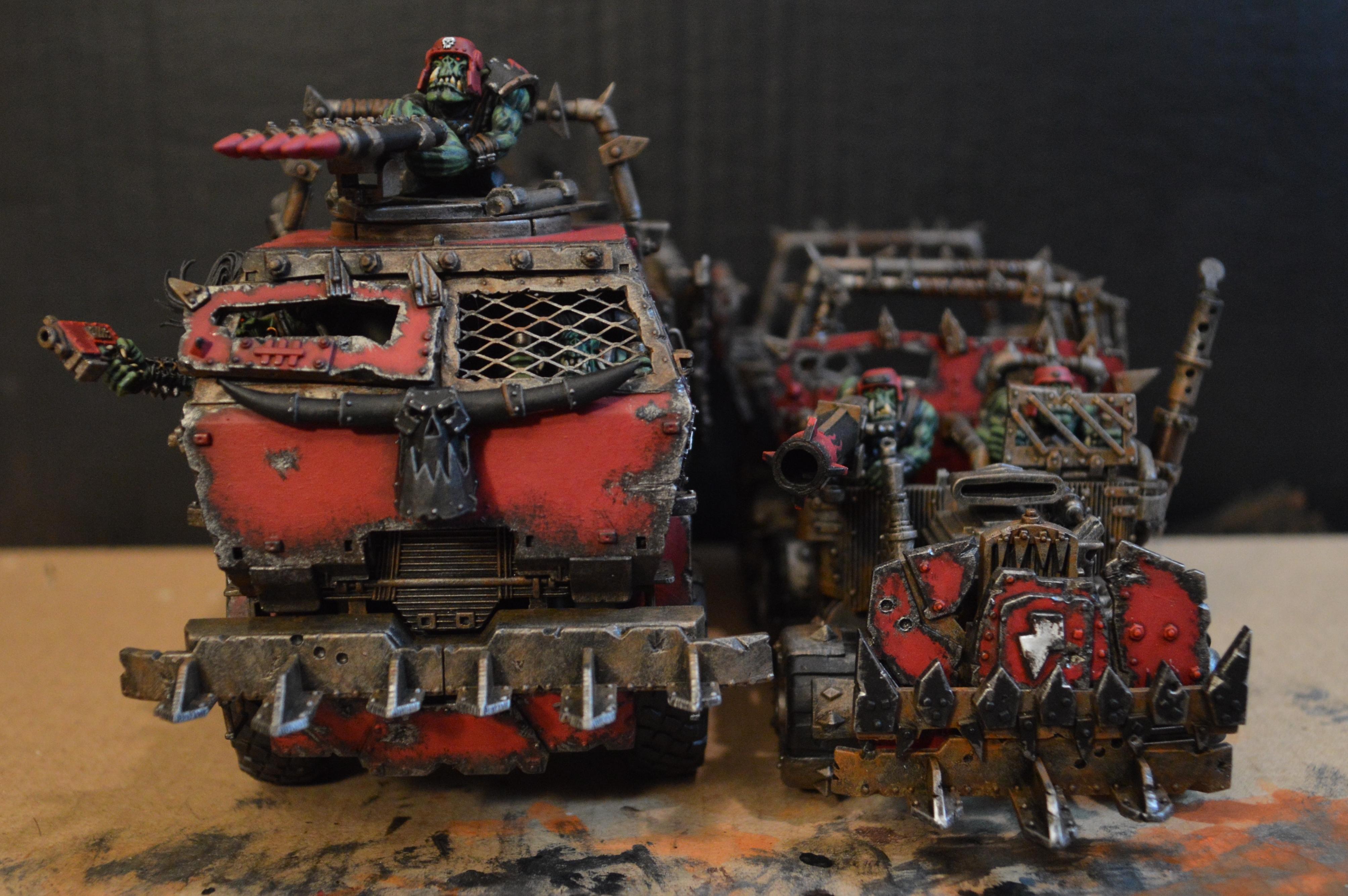 Conversion, Mega Trukk, Orks, Red, Scratch Build, The Riddle Of Steel, Trukk, Warhammer 40,000