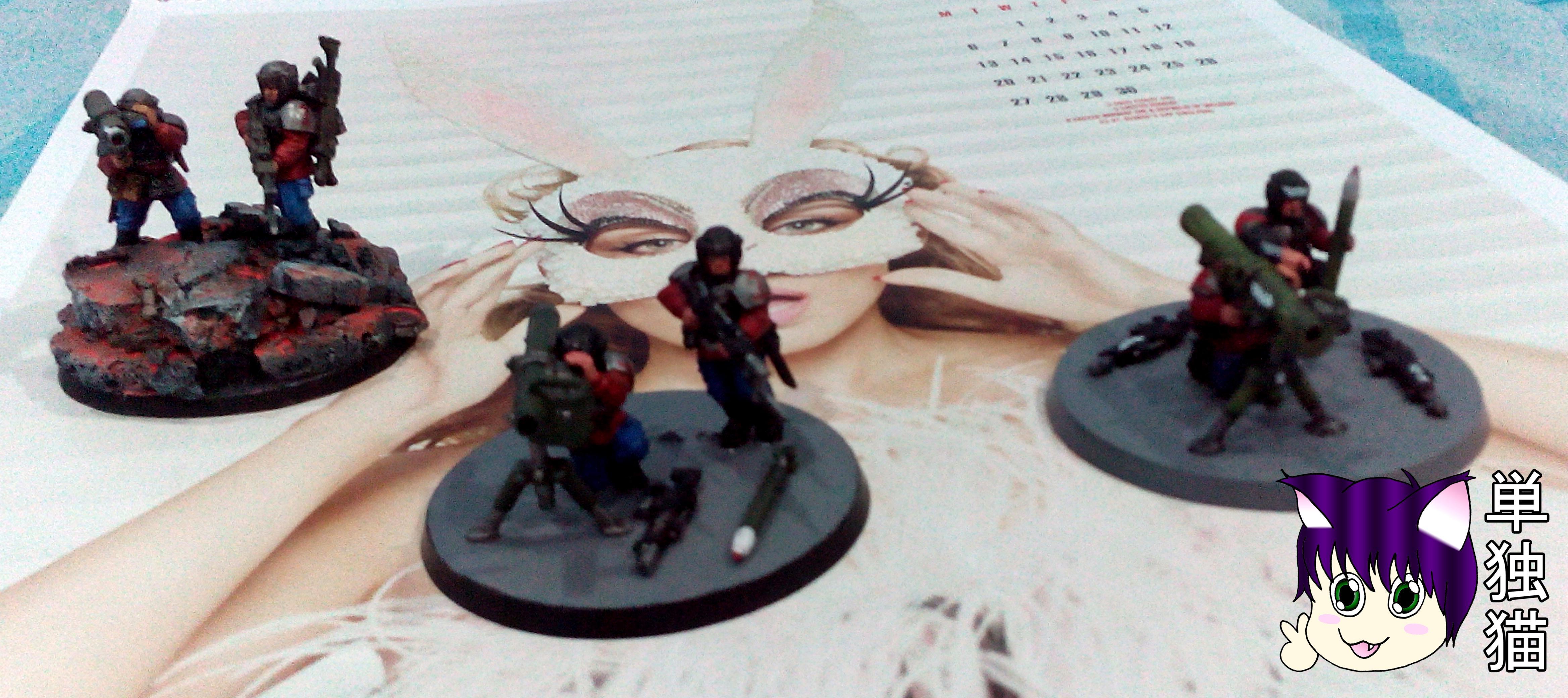 000 Pts Minogue K.1st Imperial Guard Regiment, Bazooka Team, Lone Cat's 1