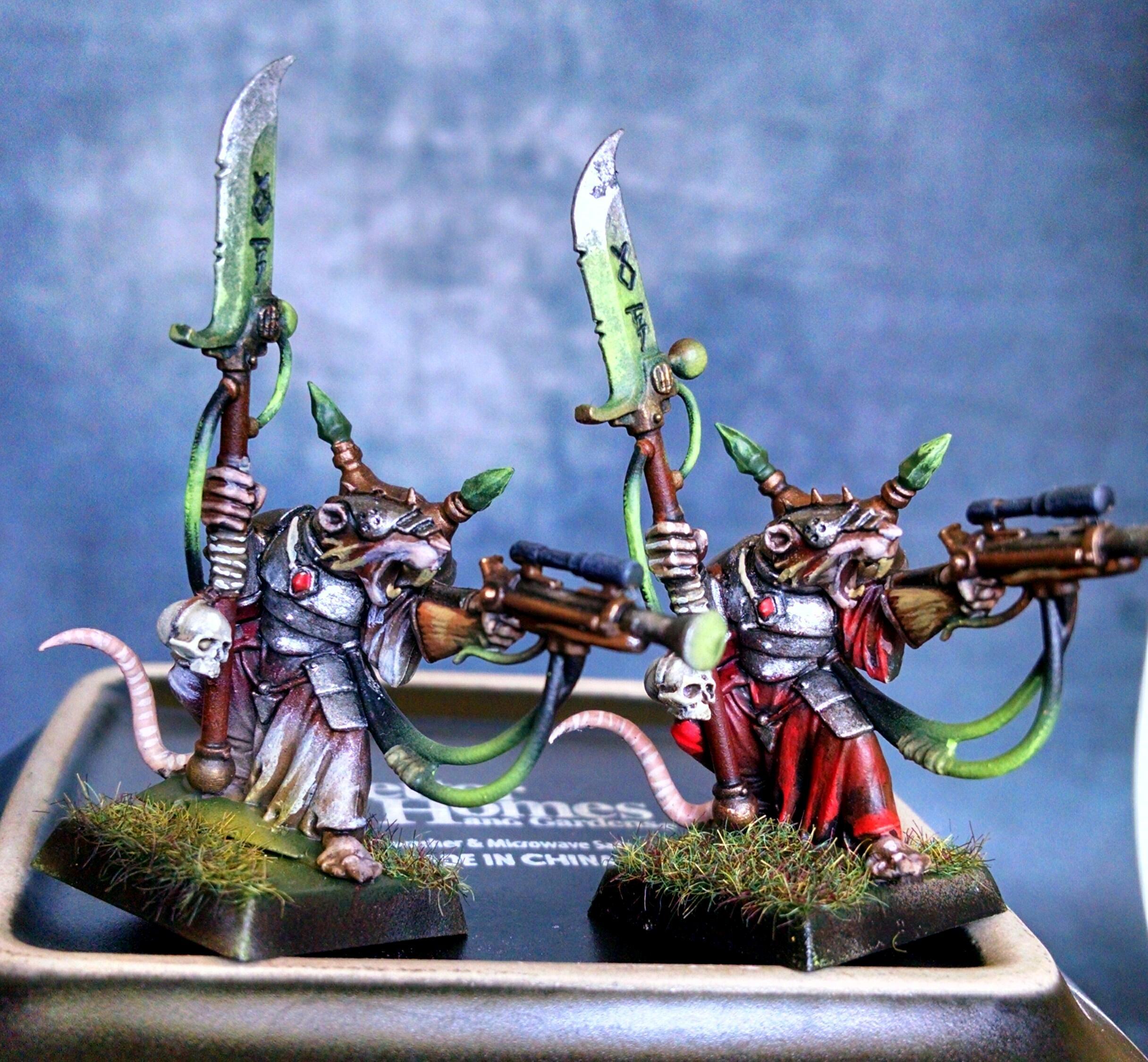 Bonebreaker, Engineer, Herder, Ogres, Rat, Skaven, Warhammer Fantasy, Warlord, Warp