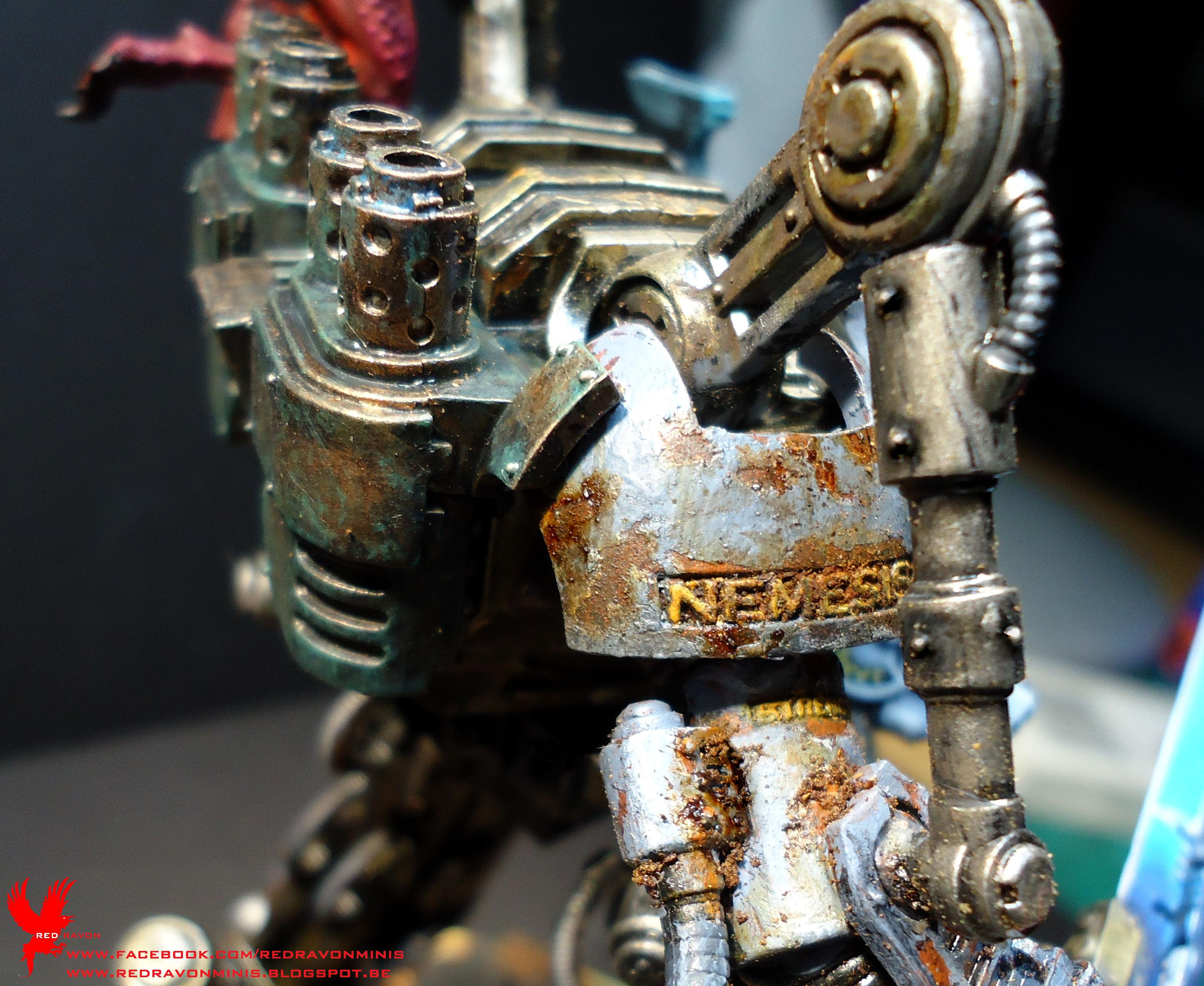 Bloodletters, Grey Knights, Khorne, Lava, Nemesis Dreadknight, Space Wolves