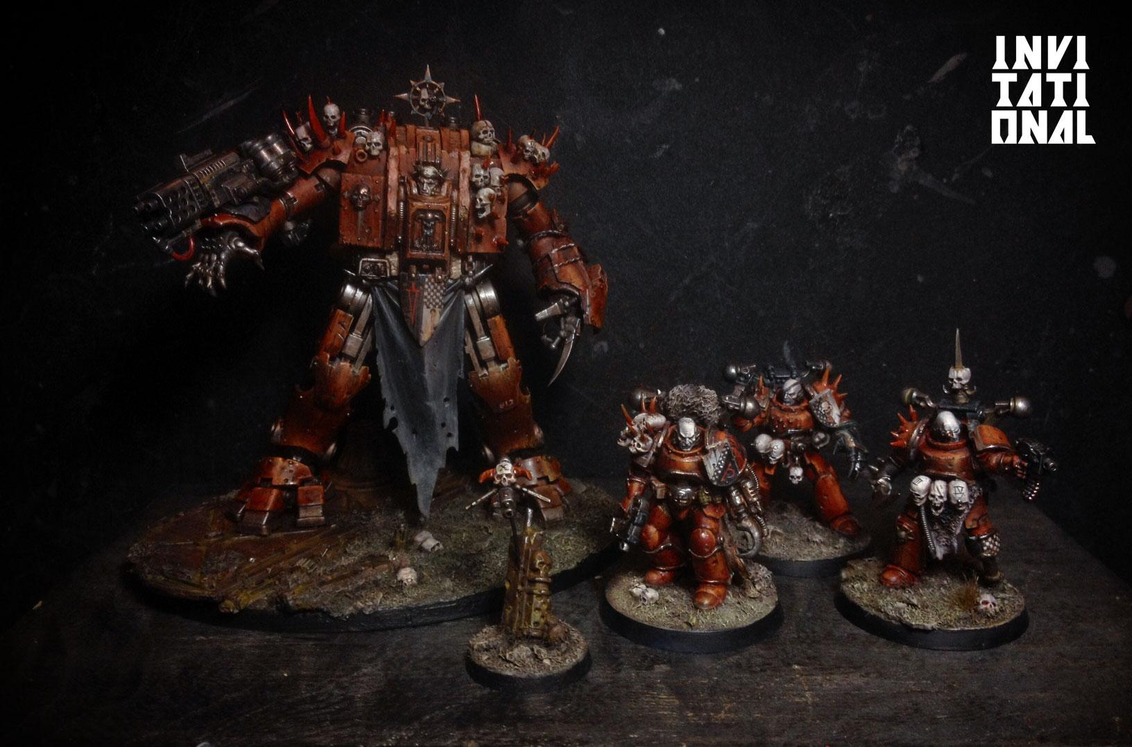Art Scale, Chaos Space Marines, Dreadnought, Red Corsairs, Space Marines, True Scale