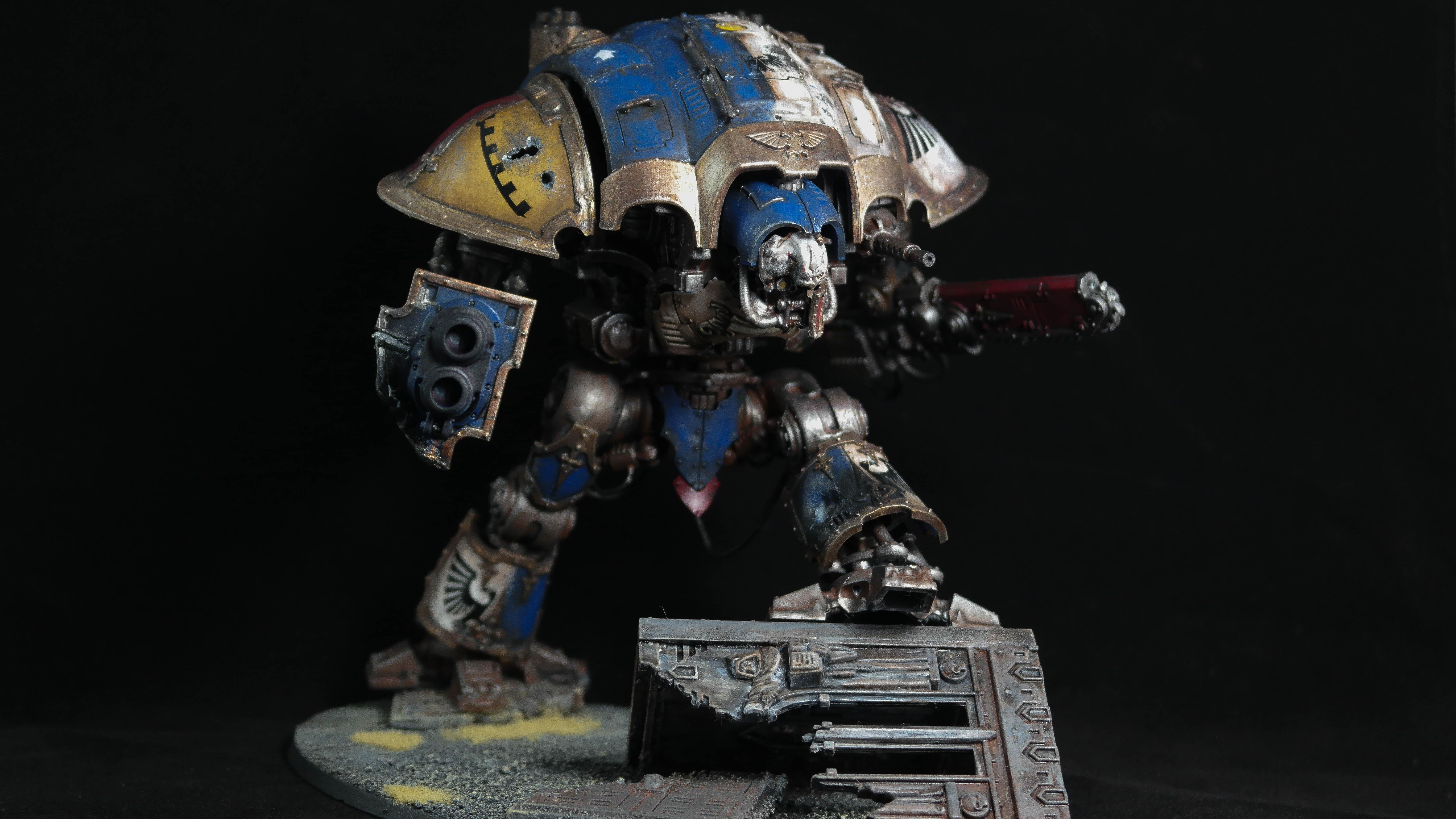 Battle Damage, Imperial Knight, Imperial Knight Titian, Knight Errant, Warhammer 40,000, Weathered