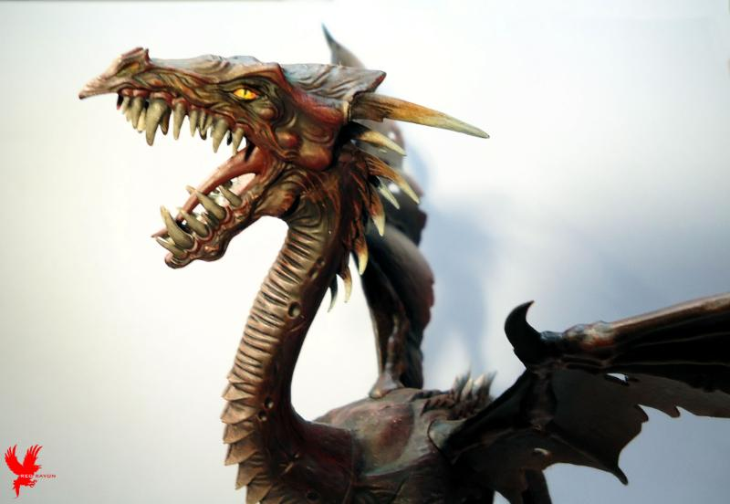 Black Dragon, Dark Elves, Dragon, Dragon Lord, Lava