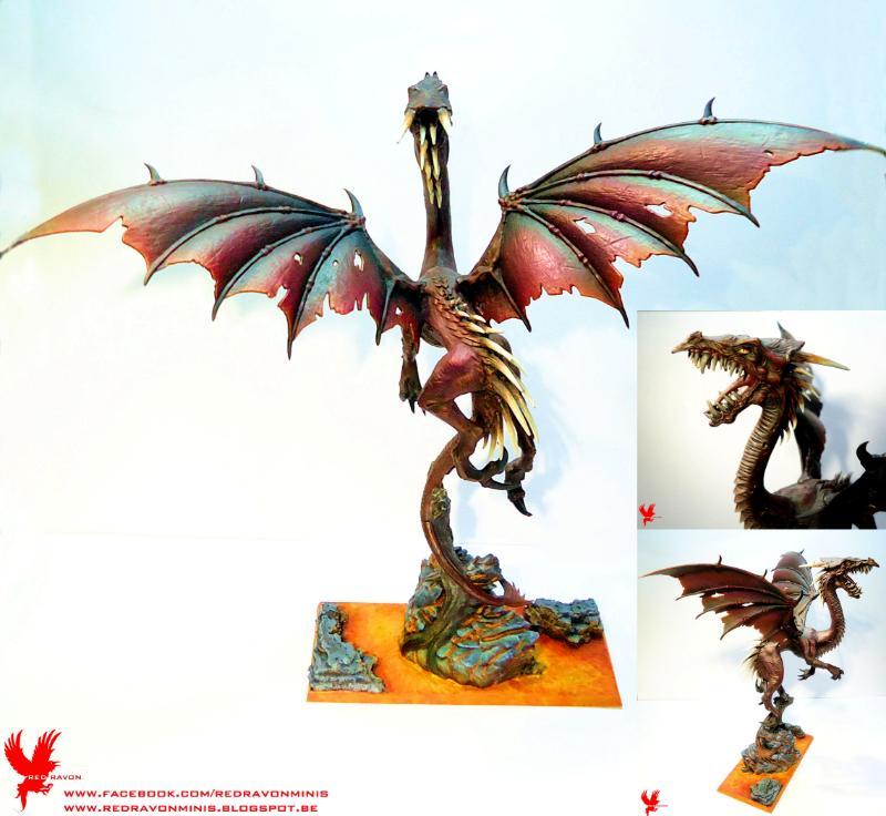 Black Dragon, Dark Elves, Dragon, Dragon Lord, Lava