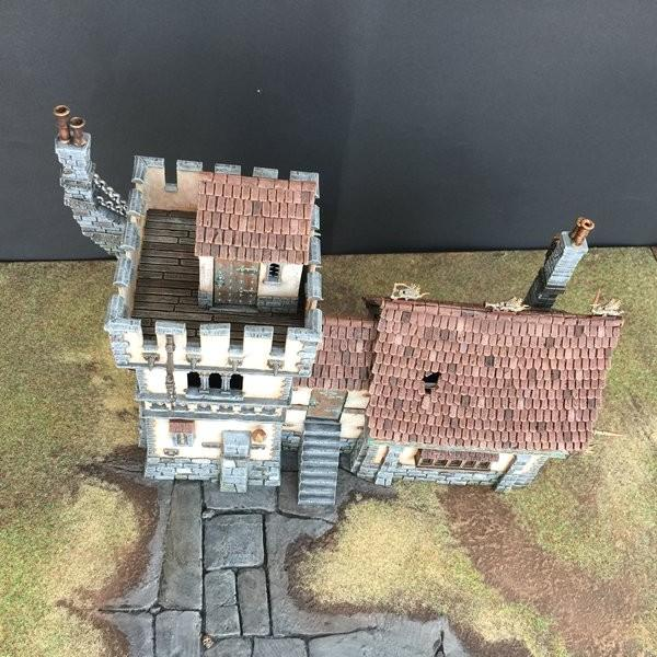 House, Terrain, Fortified Manor