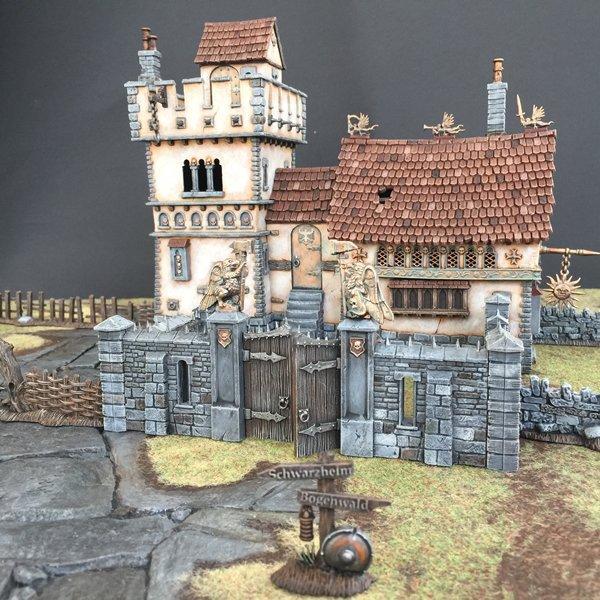 House, Signpost, Terrain, Warhammer Fantasy