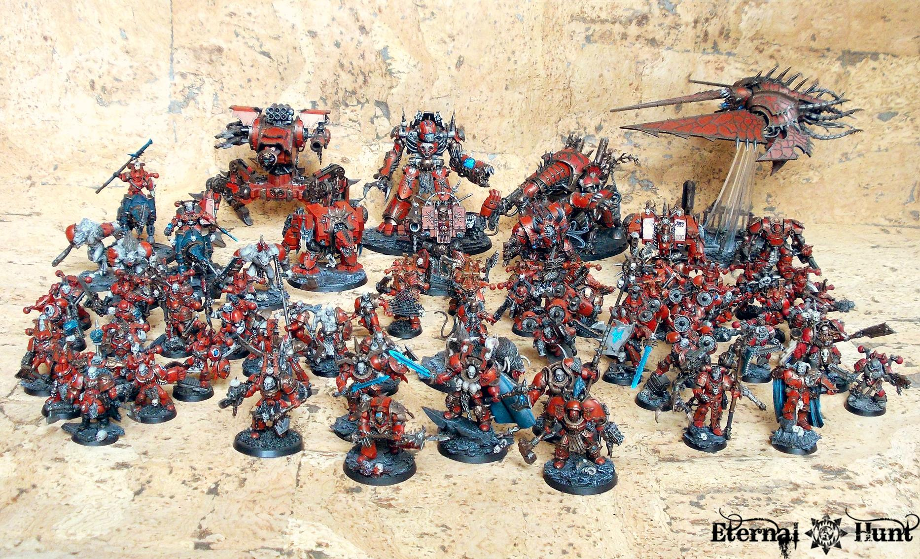 Army, Chaos, Chaos Space Marines, Conversion, Khorne, Khorne's Eternal Hunt, Kitbash, Showcase, Warhammer 40,000, World Eaters