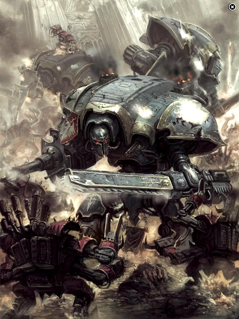 Artwork, Imperial Knights, Warhammer 40,000