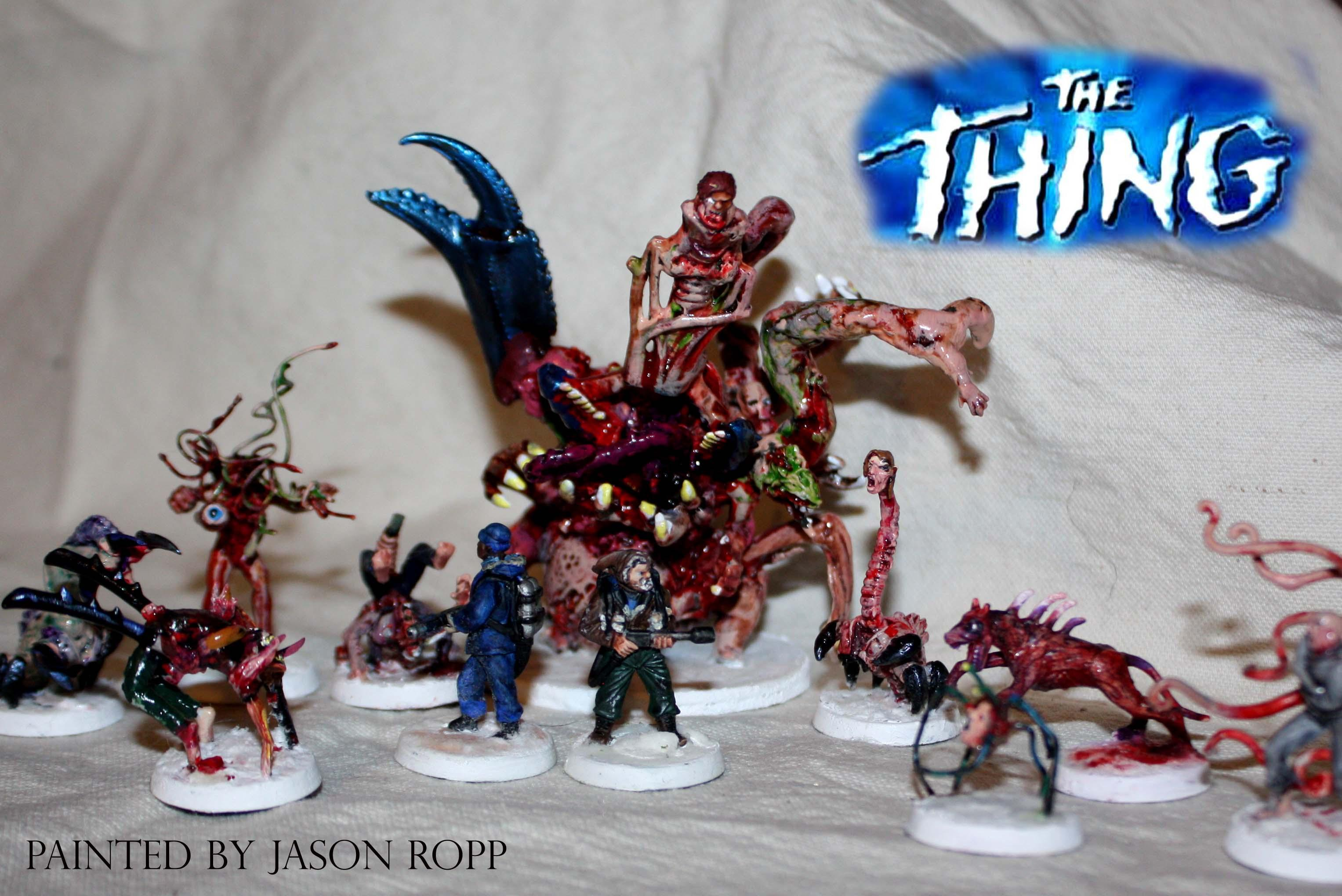 28mm, Alien, Alines Vs Predator, Avp, Conversion, From Another World, Horrorclix, Miniature, Miniatures, Monster, The Thing, Thing, Things, Wargame, Warhammer 40,000, Weird