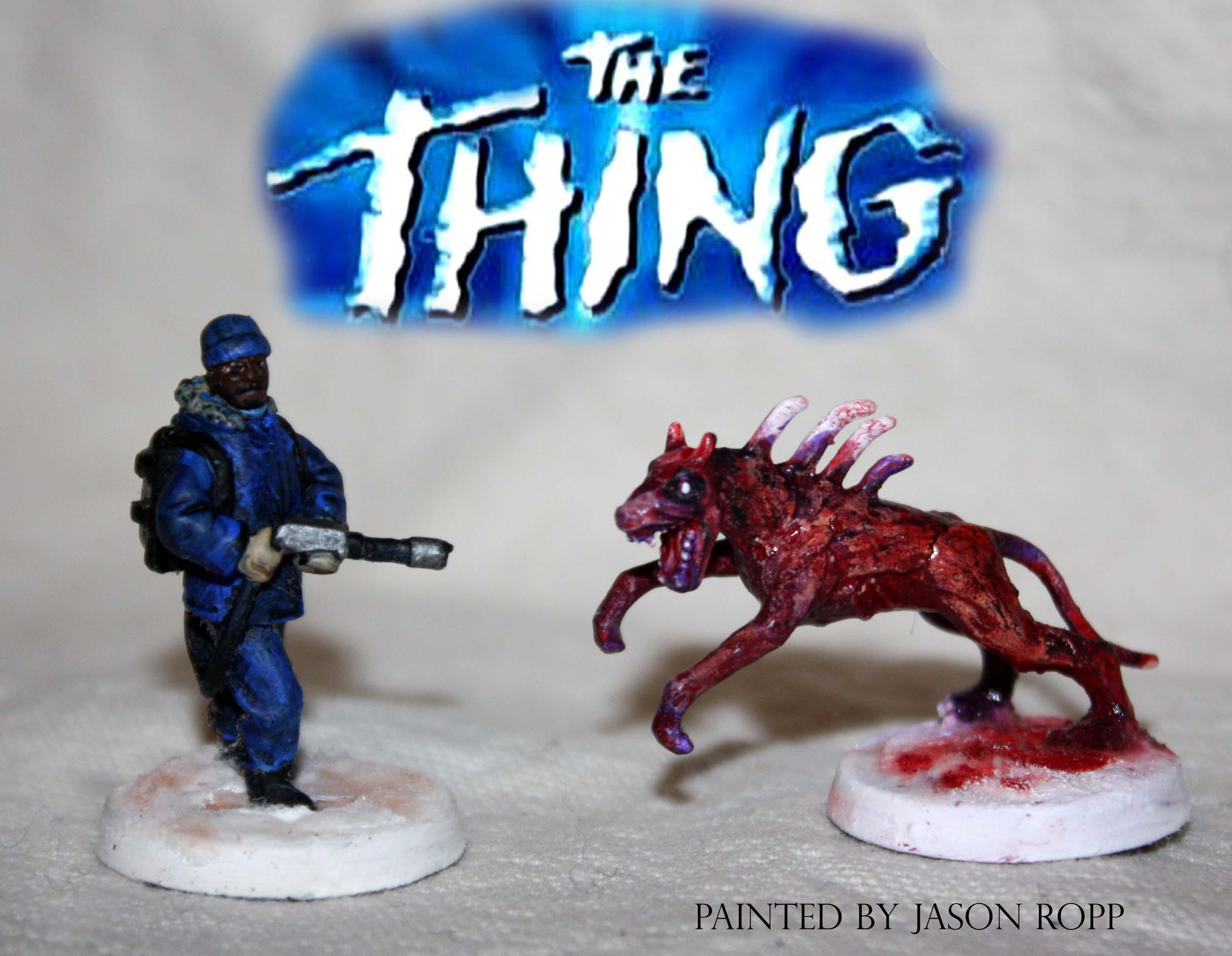 28mm, Alien, Alines Vs Predator, Avp, Conversion, Dog, From Another World, Horrorclix, Miniature, Miniatures, Monster, The Thing, Thing, Things, Wargame, Warhammer 40,000, Weird
