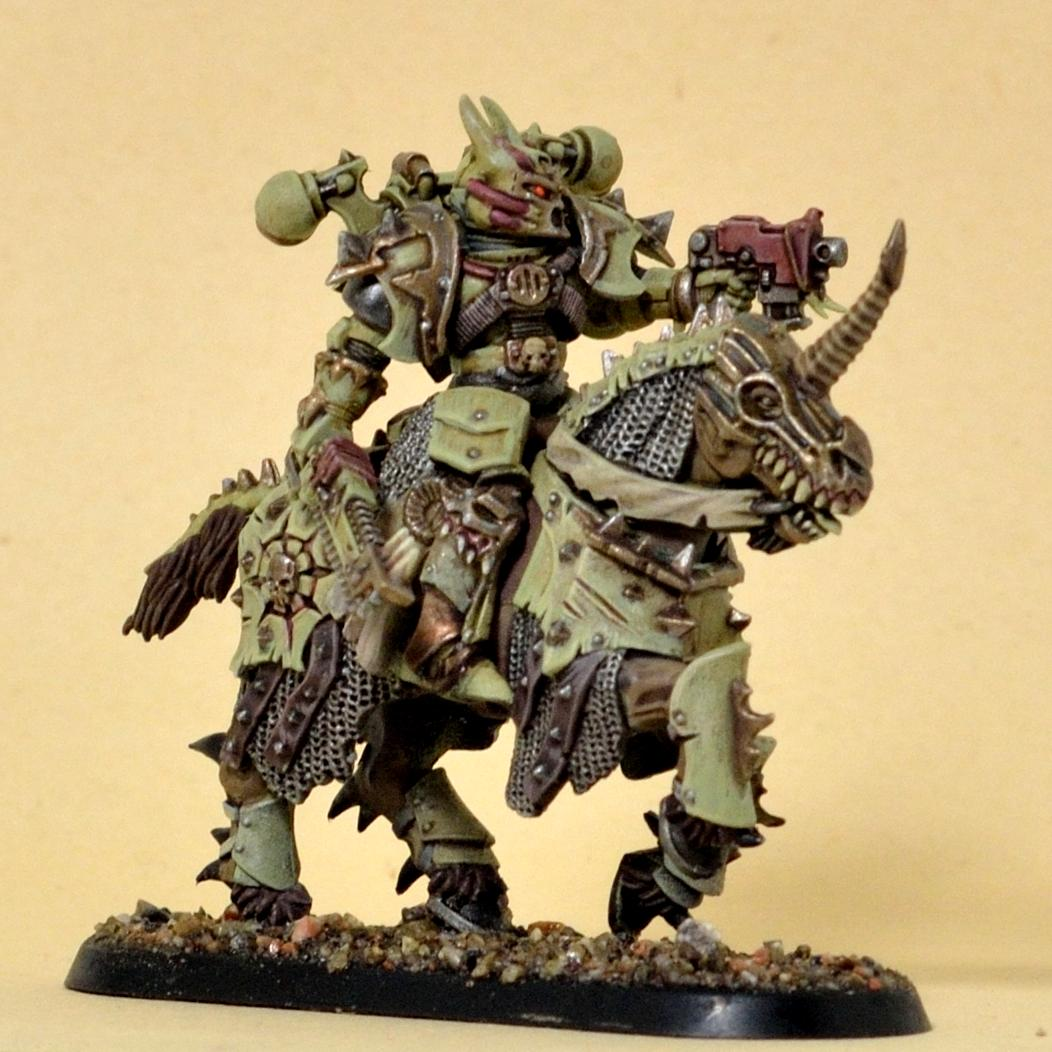 Bike, Chaos Knight, Chaos Space Marines, Conversion, Nurgle, Rider, Weathered
