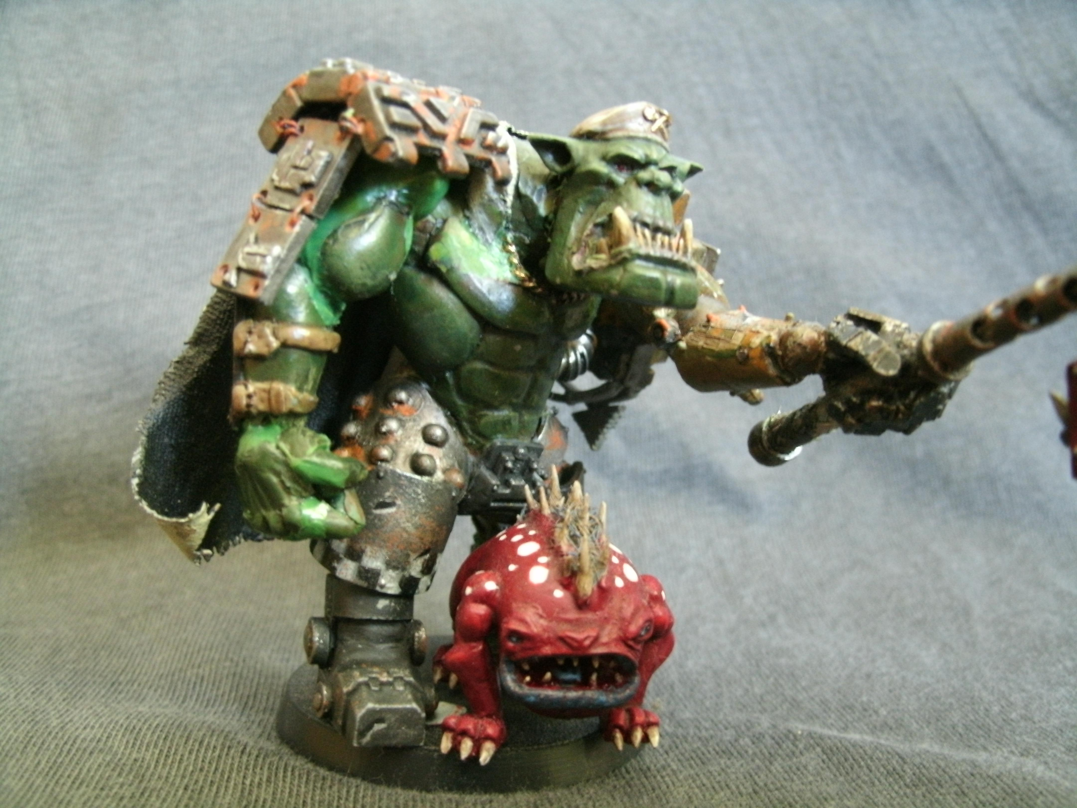 Attack Squig, Blood Axe, Conversion, Orks, Scratch Build, Self Sculpt, Warboss
