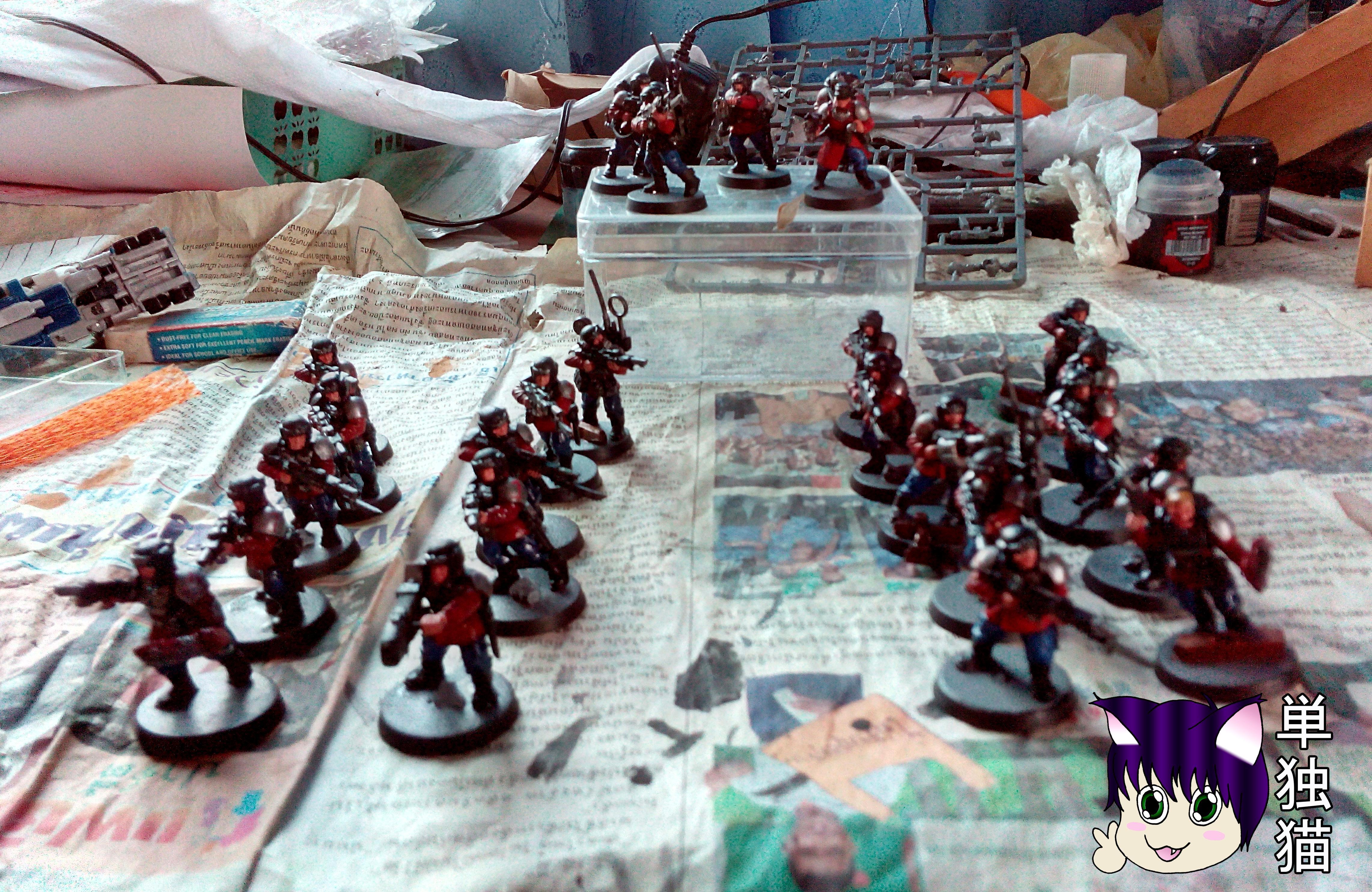 Lone Cat's 1,000 pts Minogue K.1st Imperial Guard Regiment, Rifle Platoon
