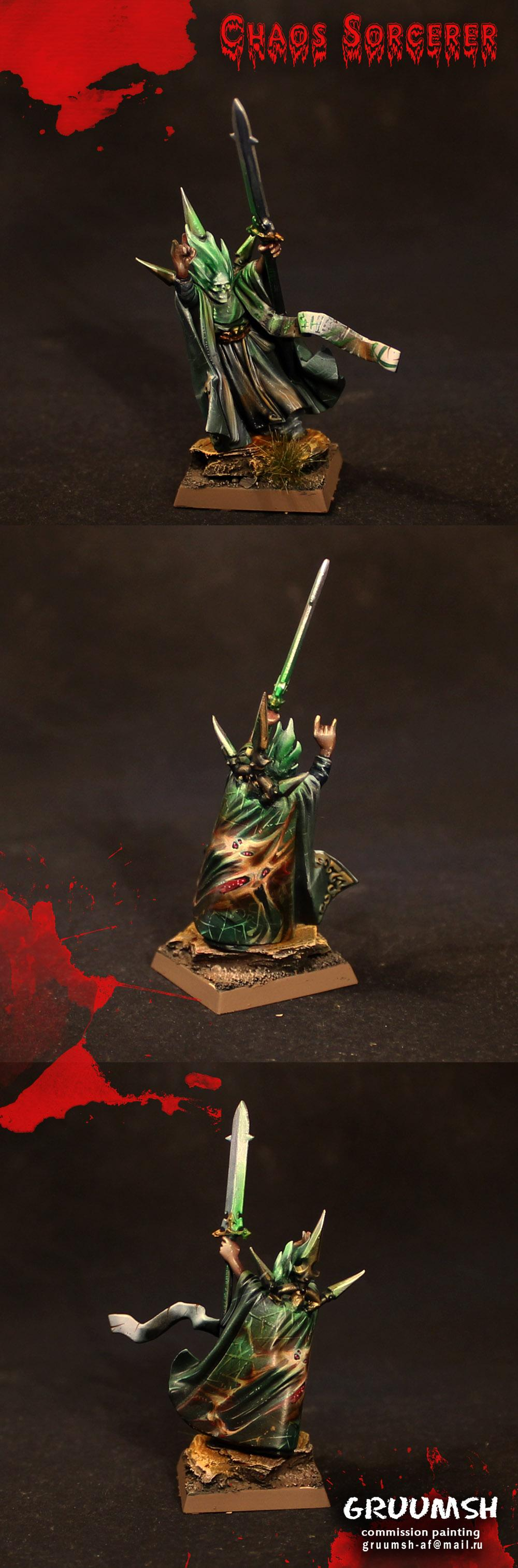 Chaos, Commision, Pro-painted, Sorcerer